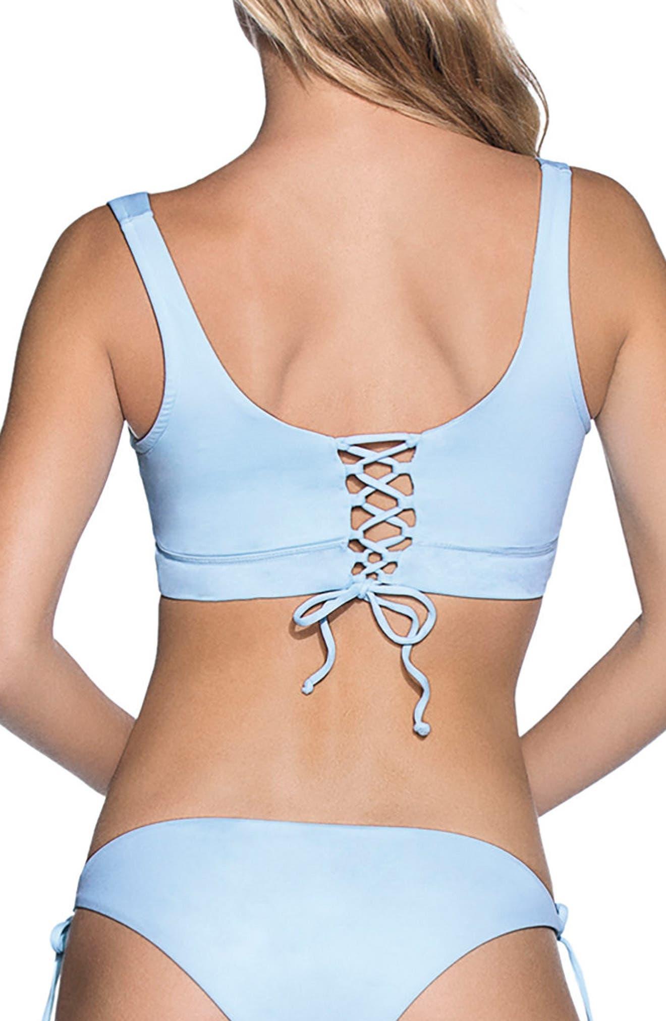 Crystal Blue Allure Reversible Bikini Top,                             Alternate thumbnail 3, color,                             450