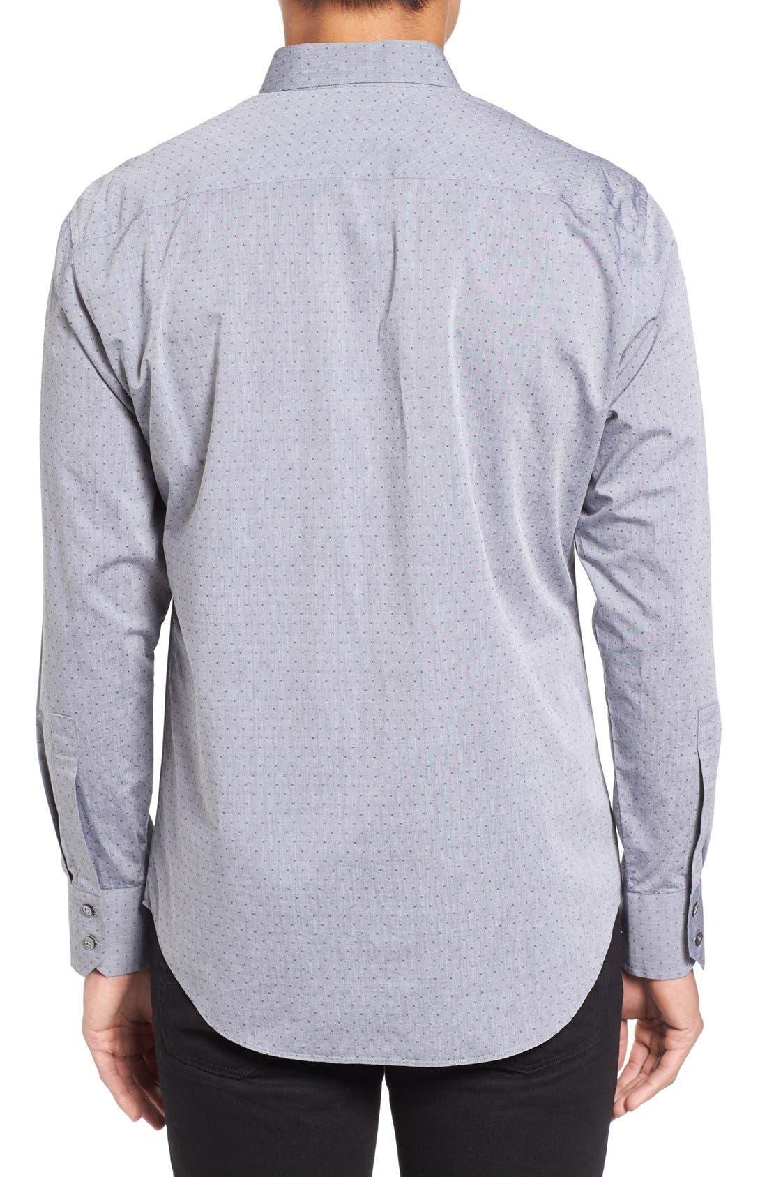 Yama Trim Fit Geometric Sport Shirt,                             Alternate thumbnail 2, color,