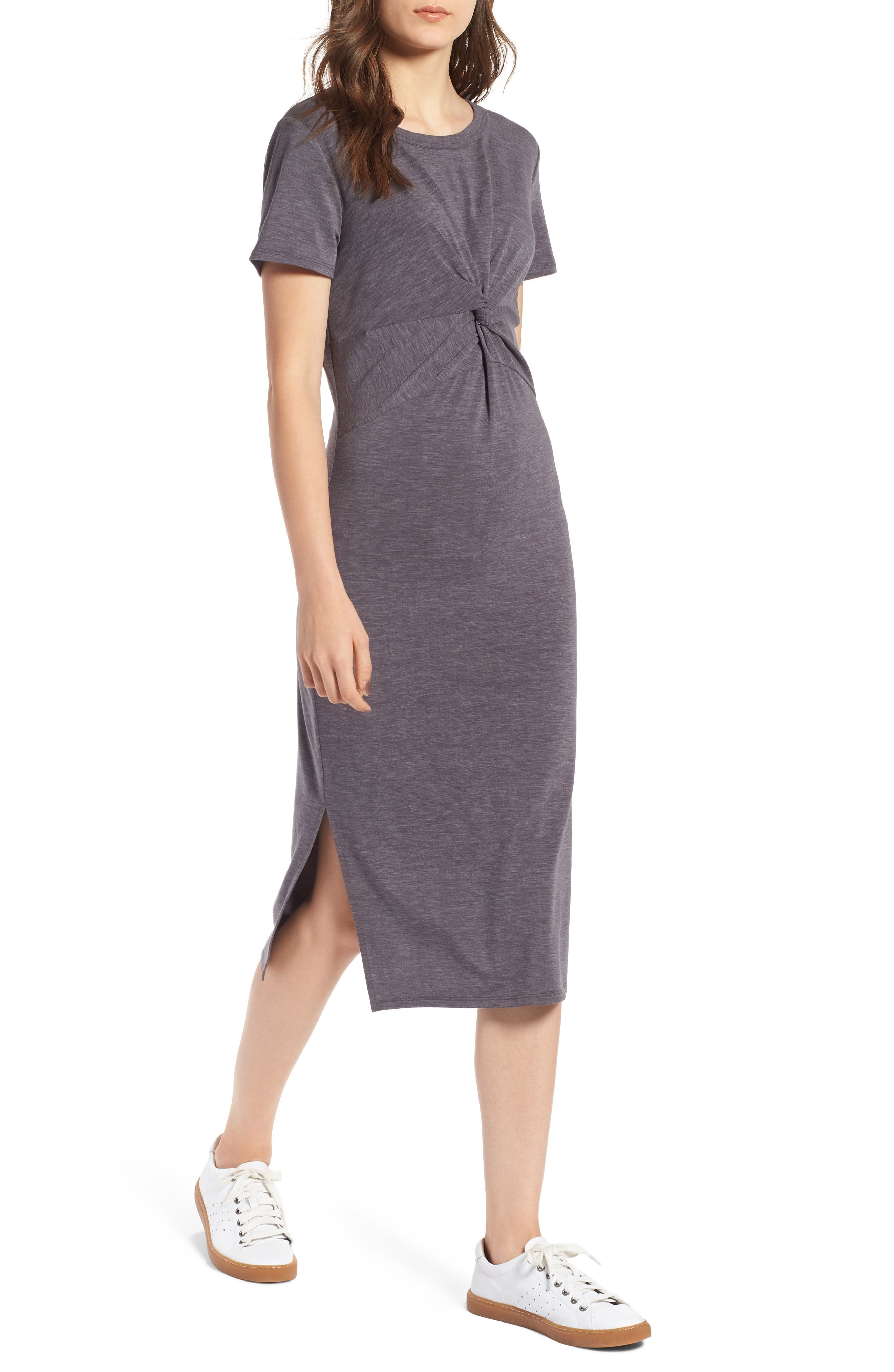Twist Front Midi Dress,                             Main thumbnail 1, color,                             030