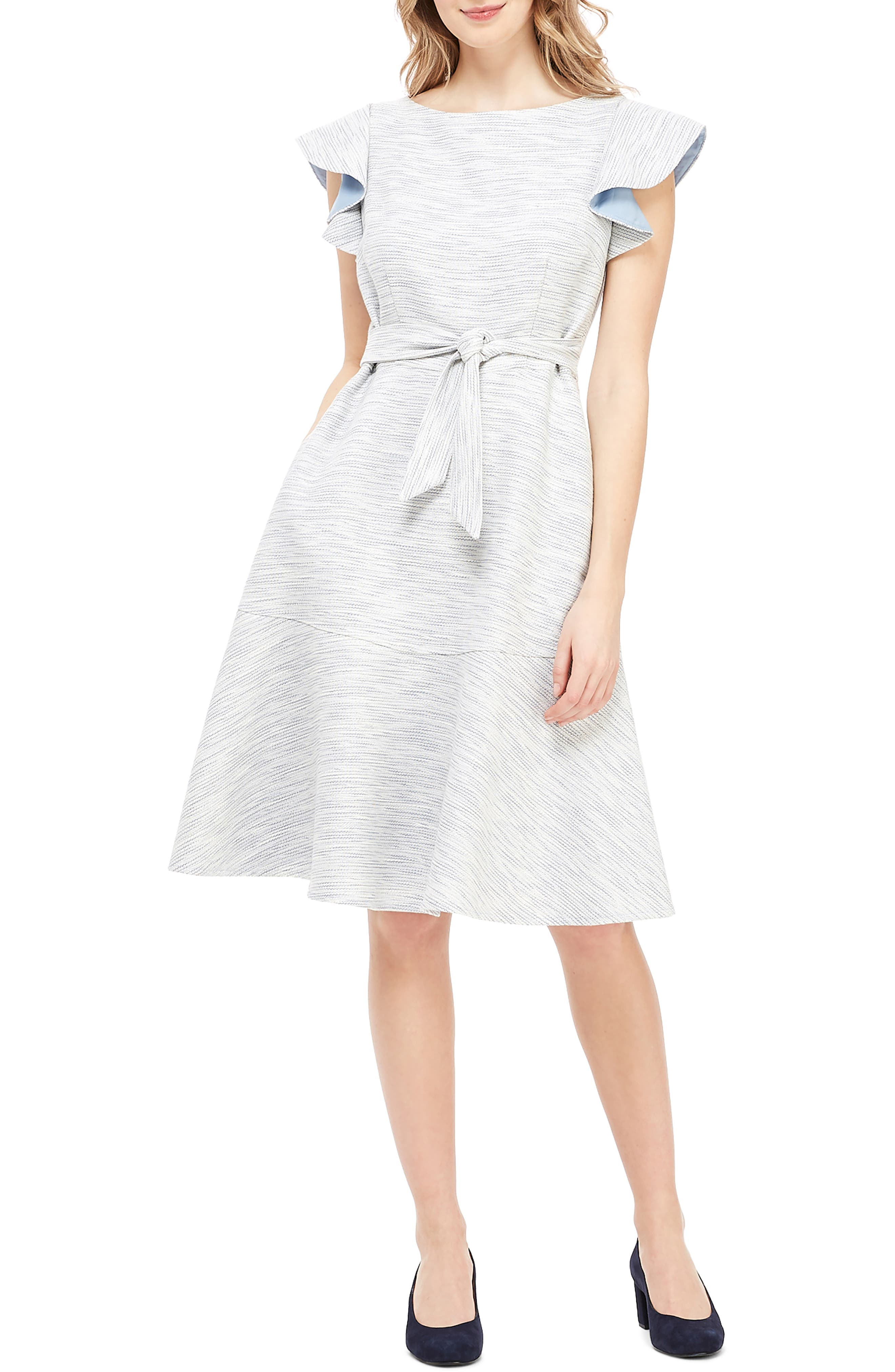 Gal Meets Glam Collection Daniela Circular A-Line Dress, Blue