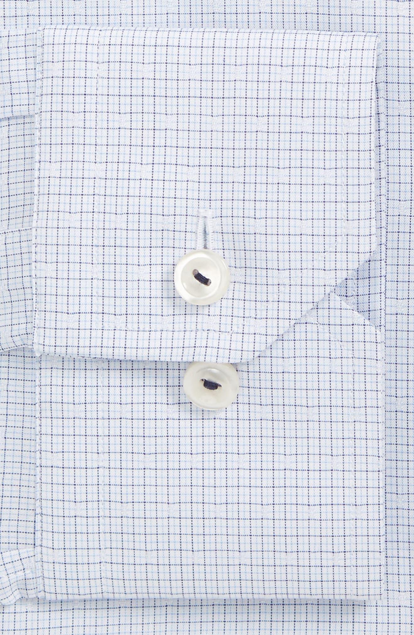 Slim Fit Microcheck Dress Shirt,                         Main,                         color, 400