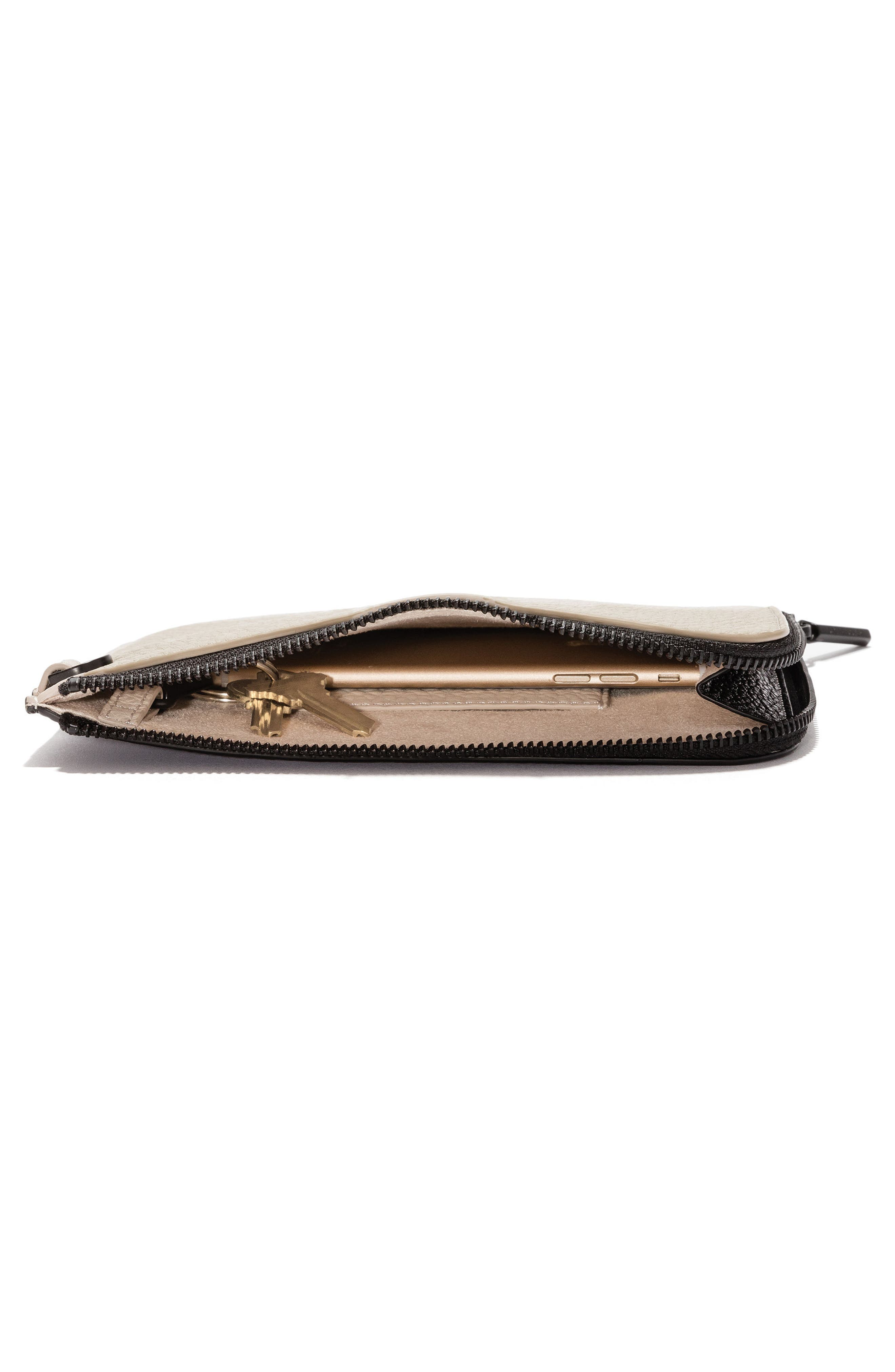 Small Elle Leather Clutch,                             Alternate thumbnail 17, color,