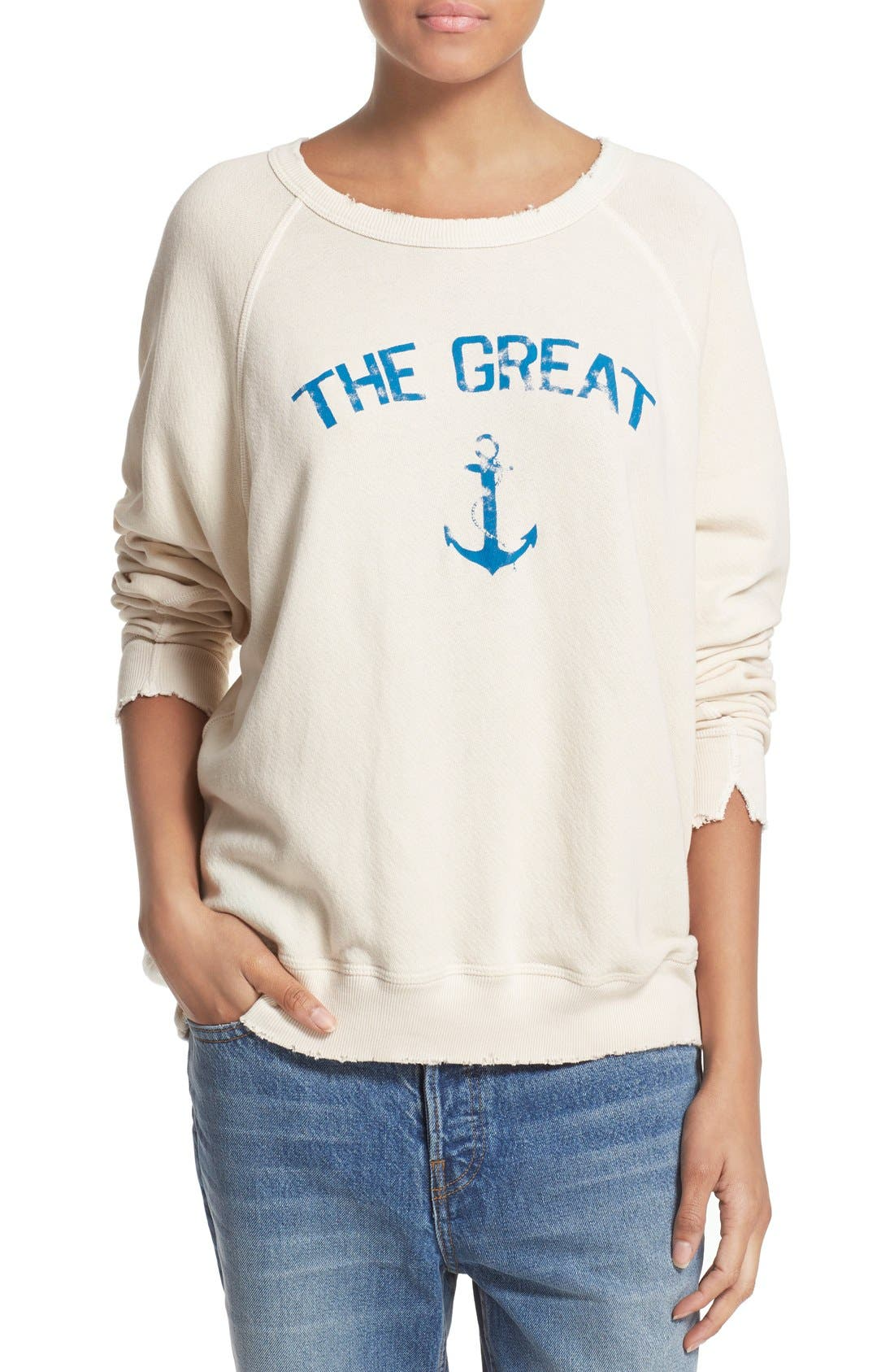 'The Anchor' Sweatshirt, Main, color, 909