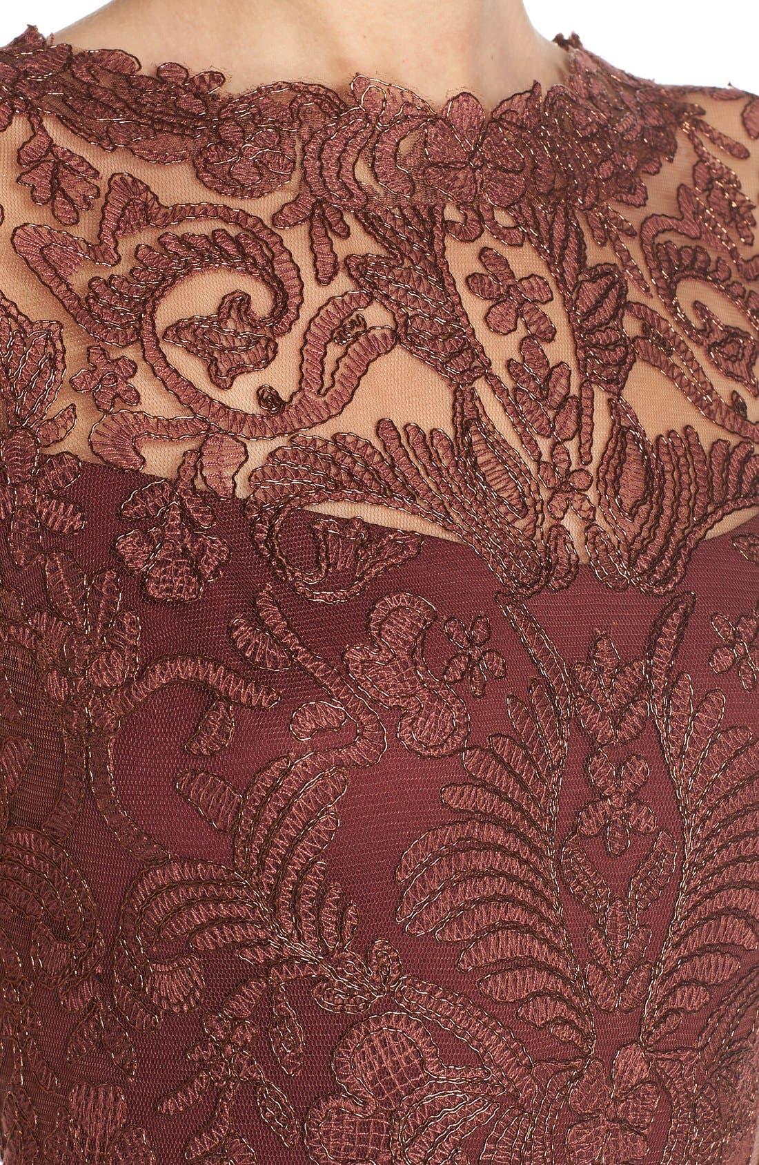 Illusion Yoke Lace Sheath Dress,                             Alternate thumbnail 29, color,