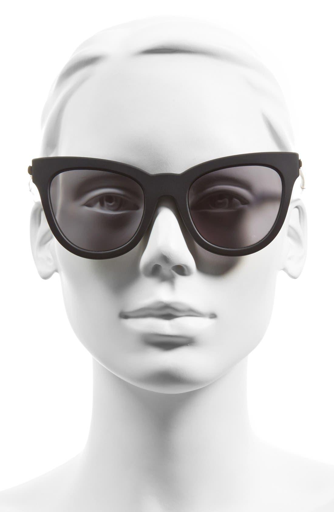 'Le Debutante' 51mm Cat Eye Sunglasses,                             Alternate thumbnail 2, color,                             001