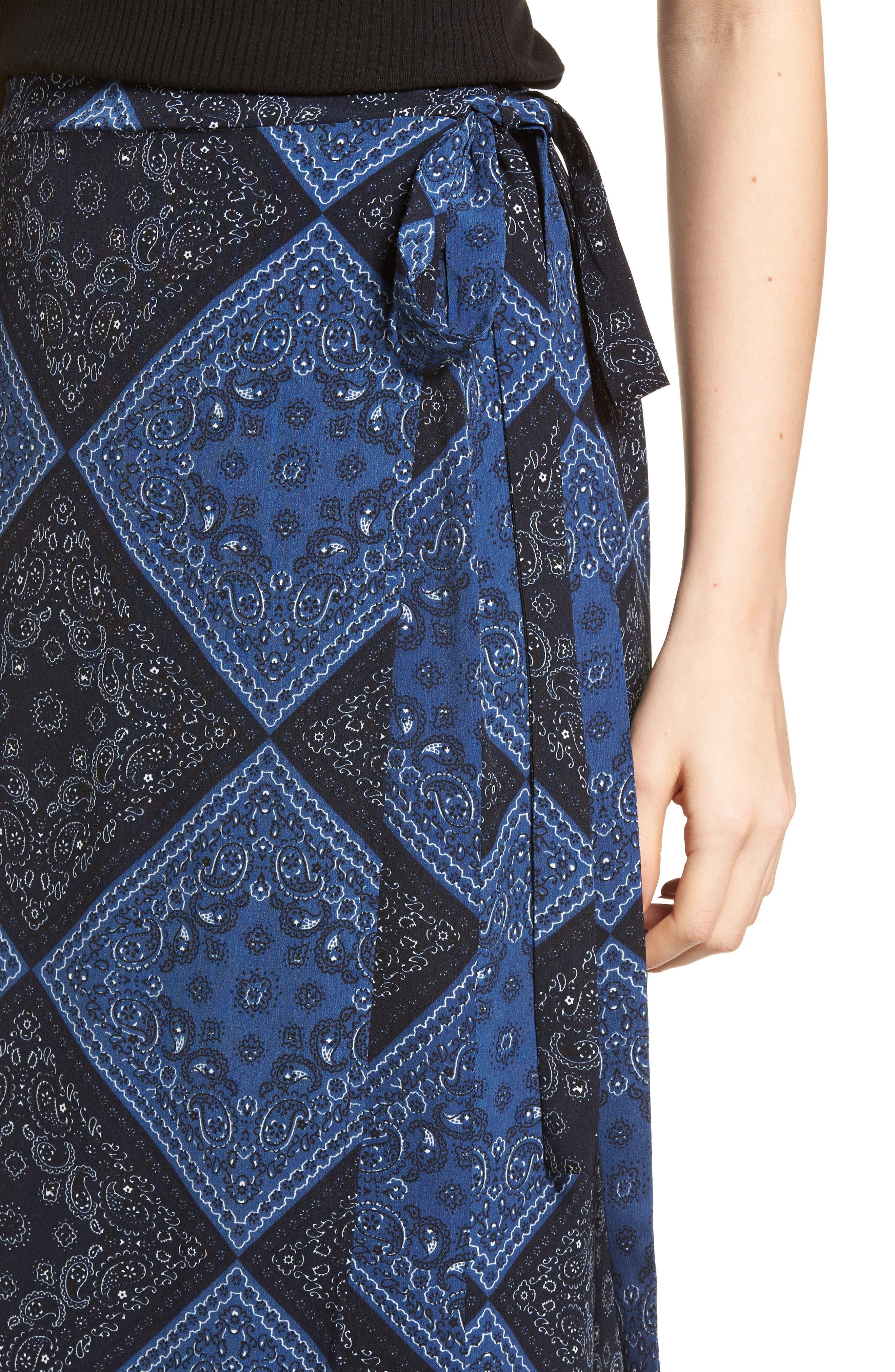 Elsa Bandana Print Skirt,                             Alternate thumbnail 4, color,                             405