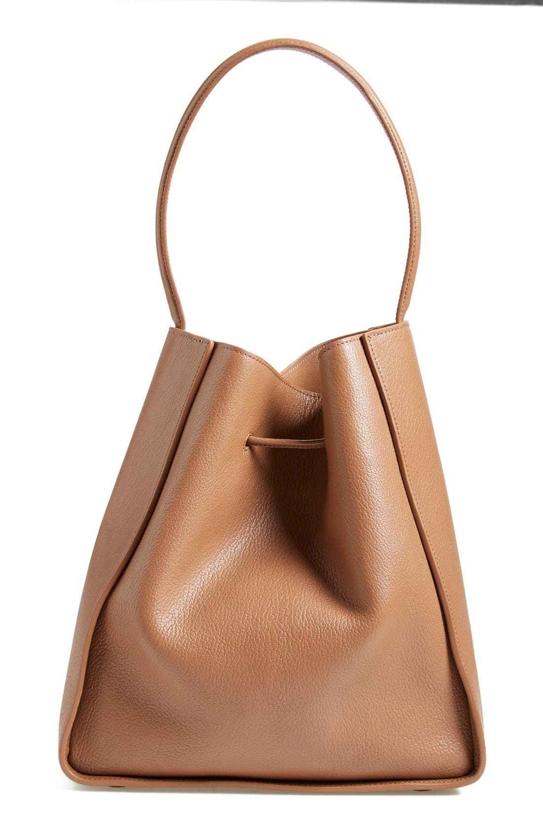 'Large Soleil' Leather Bucket Bag,                             Alternate thumbnail 7, color,