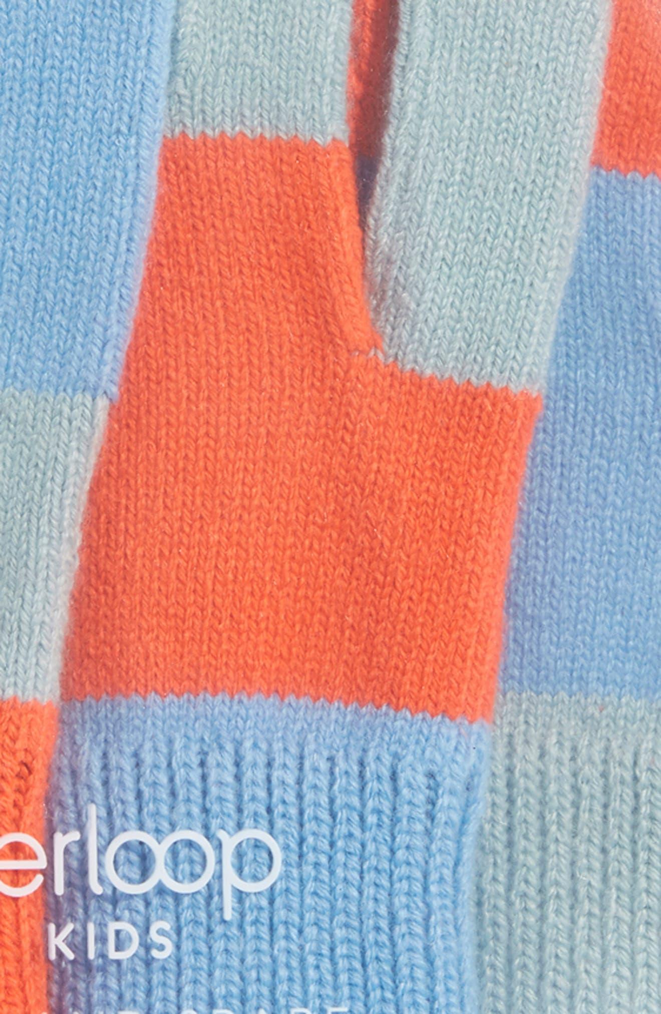 Pair & Spare Set of 3 Touchscreen Gloves,                             Alternate thumbnail 2, color,                             BLUES ORANGE