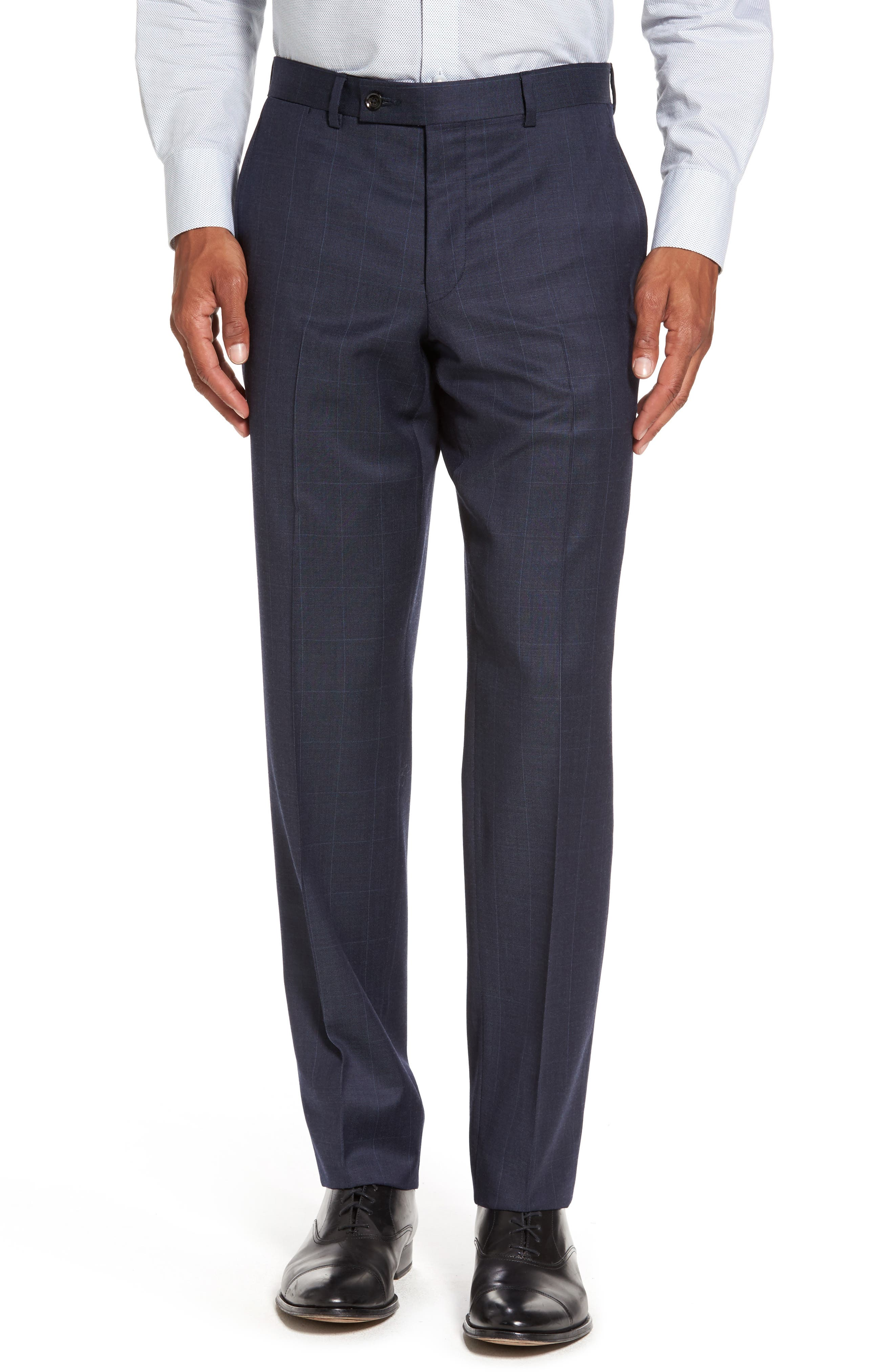 Jay Trim Fit Windowpane Wool Suit,                             Alternate thumbnail 6, color,