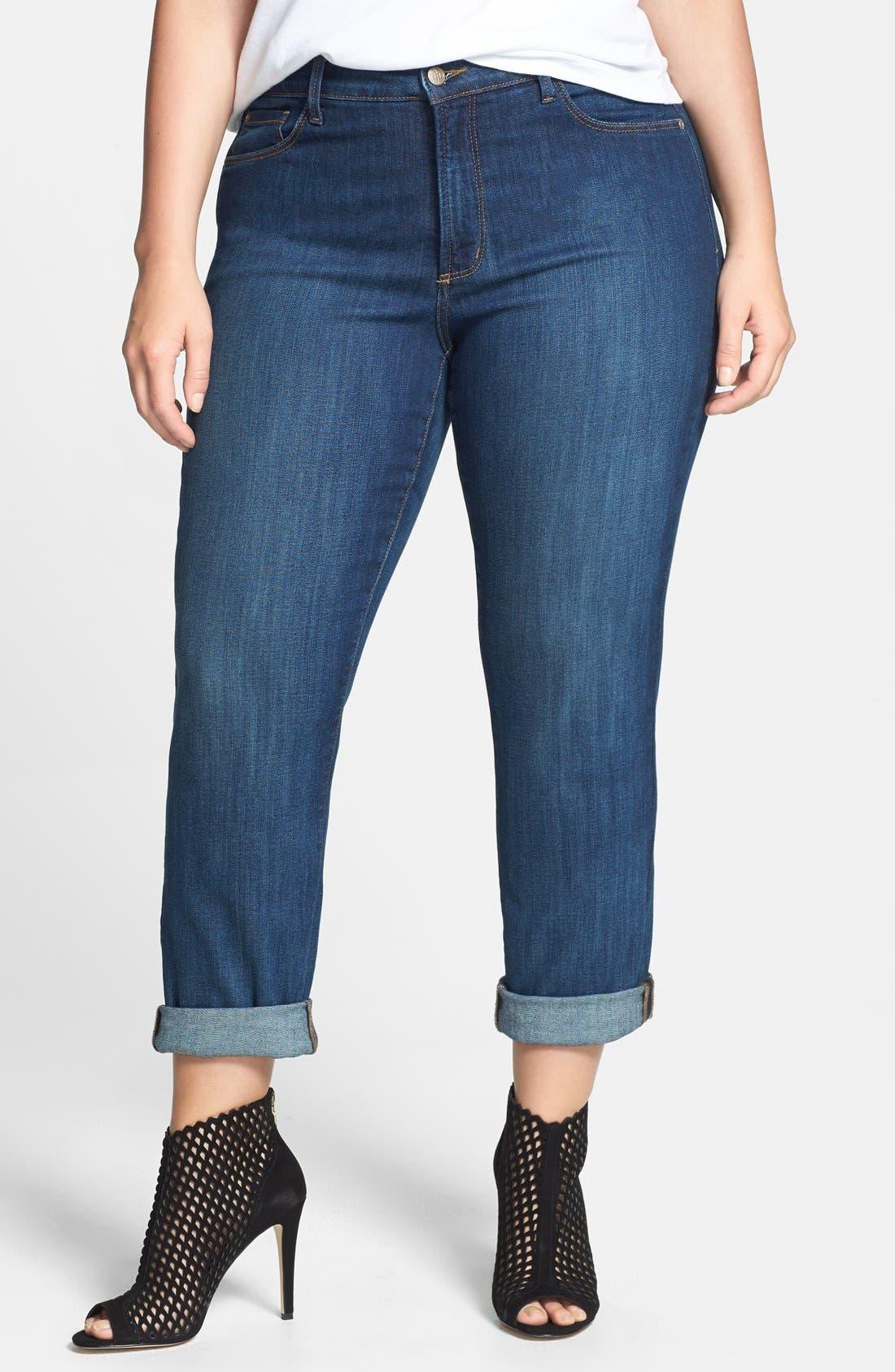 NYDJ,                             'Tanya' Cuff Slim Boyfriend Jeans,                             Main thumbnail 1, color,                             427