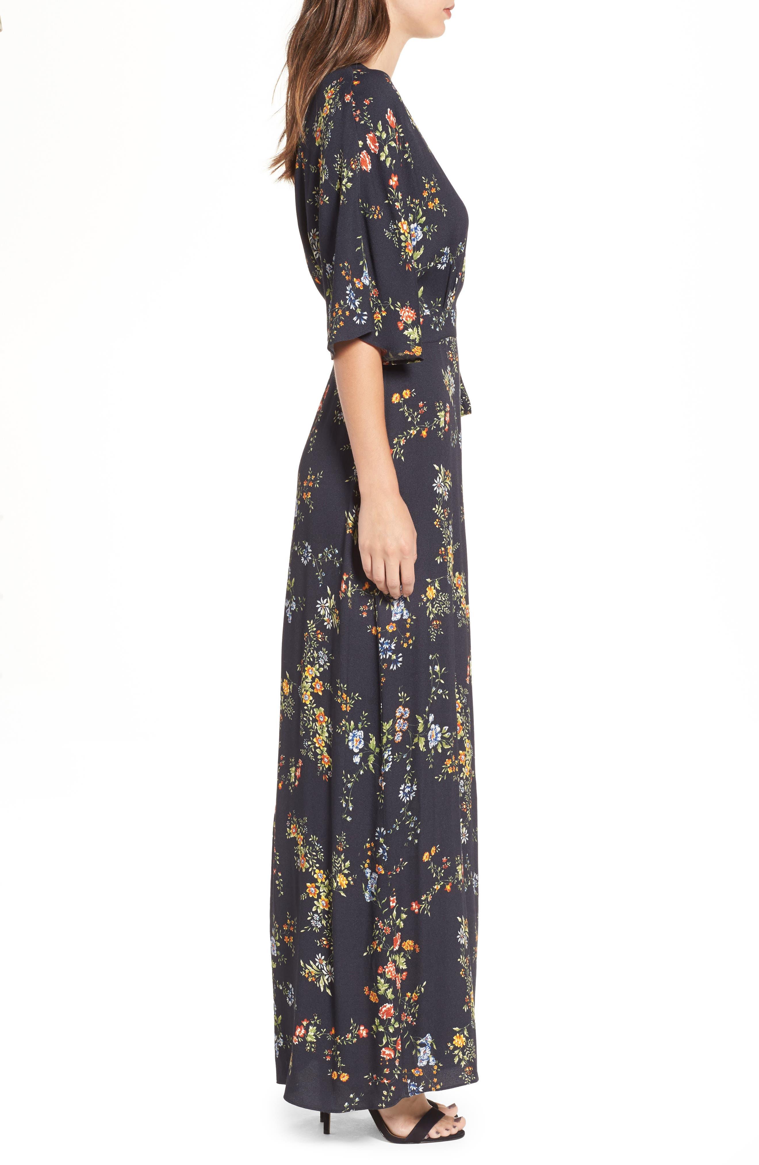 AFRM,                             Monroe Wrap Dress,                             Alternate thumbnail 3, color,                             001