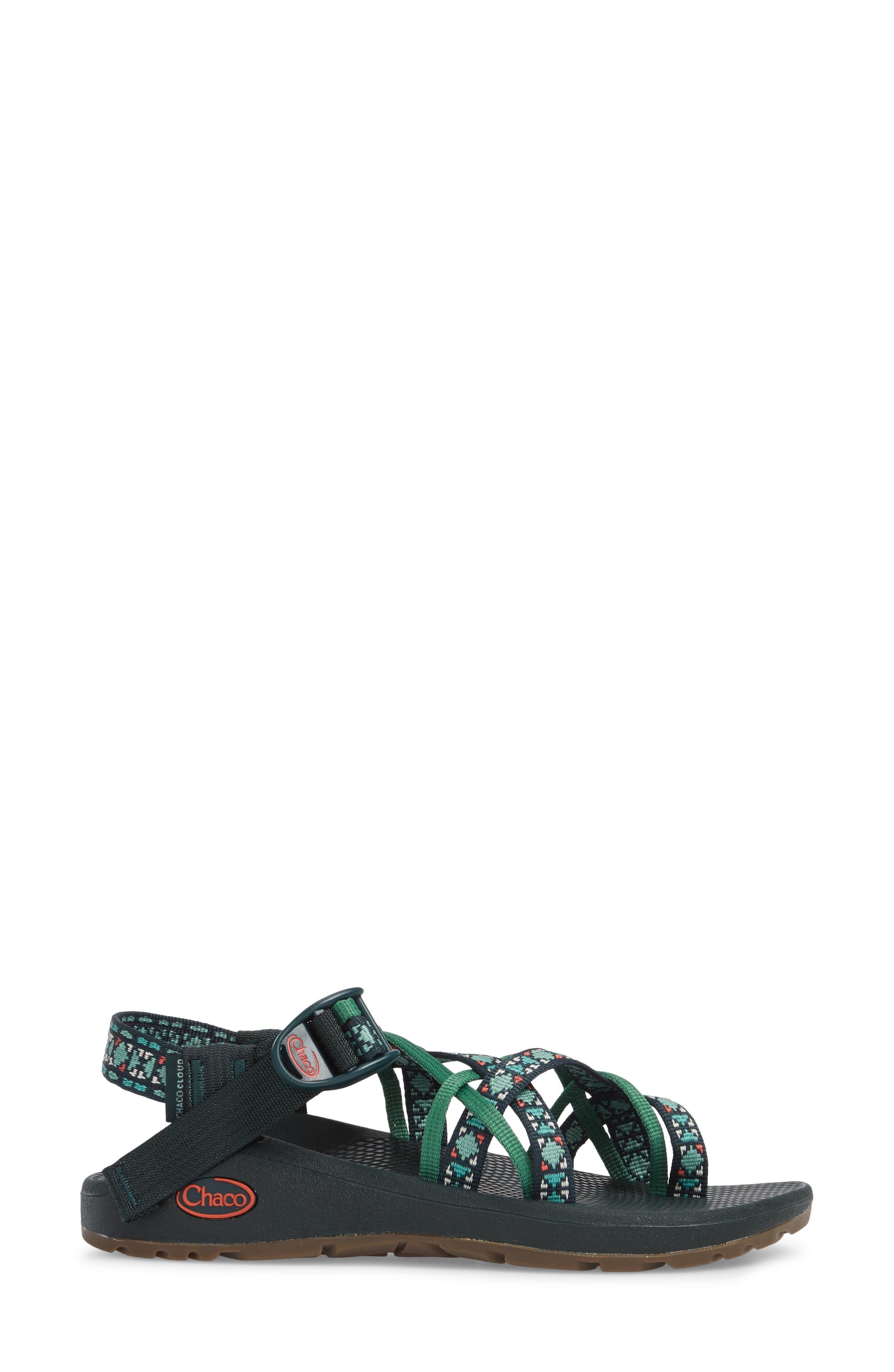 Z/Cloud X2 Remix Sport Sandal,                             Alternate thumbnail 3, color,                             CREED PINE