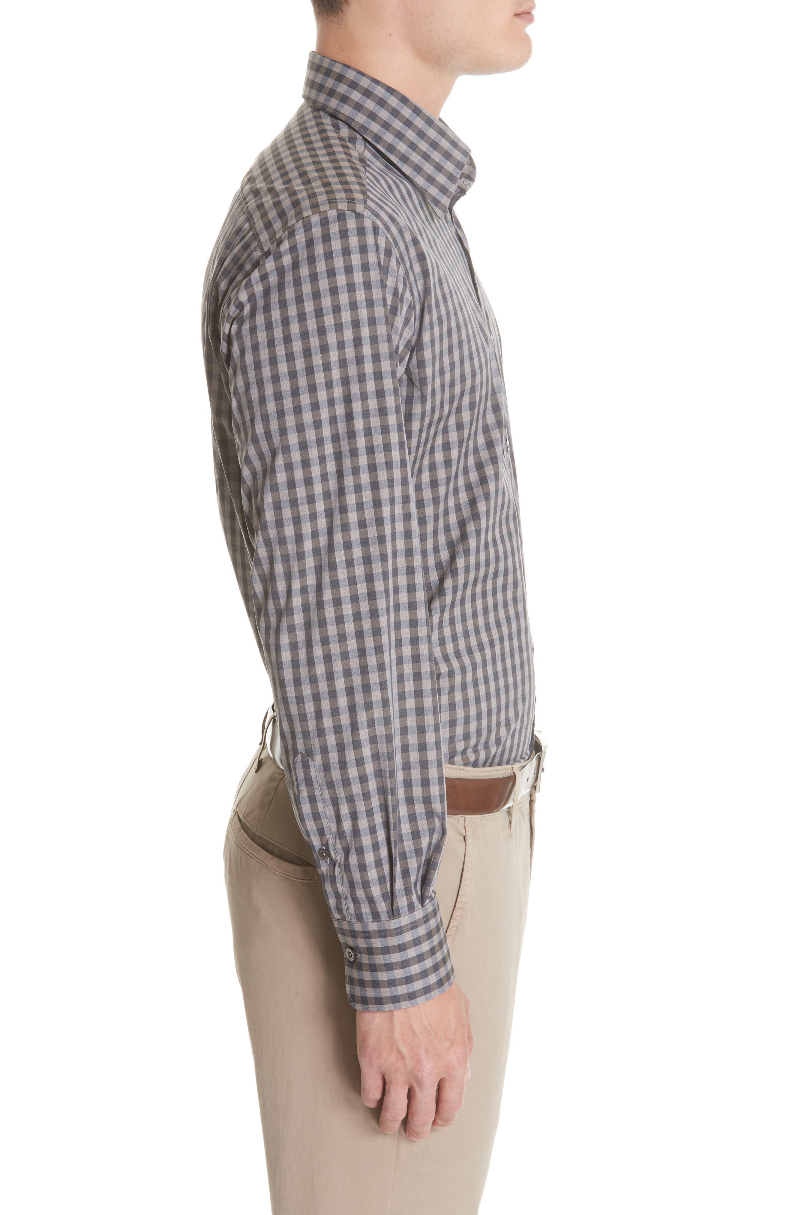 Regular Fit Stretch Check Sport Shirt,                             Alternate thumbnail 4, color,                             200
