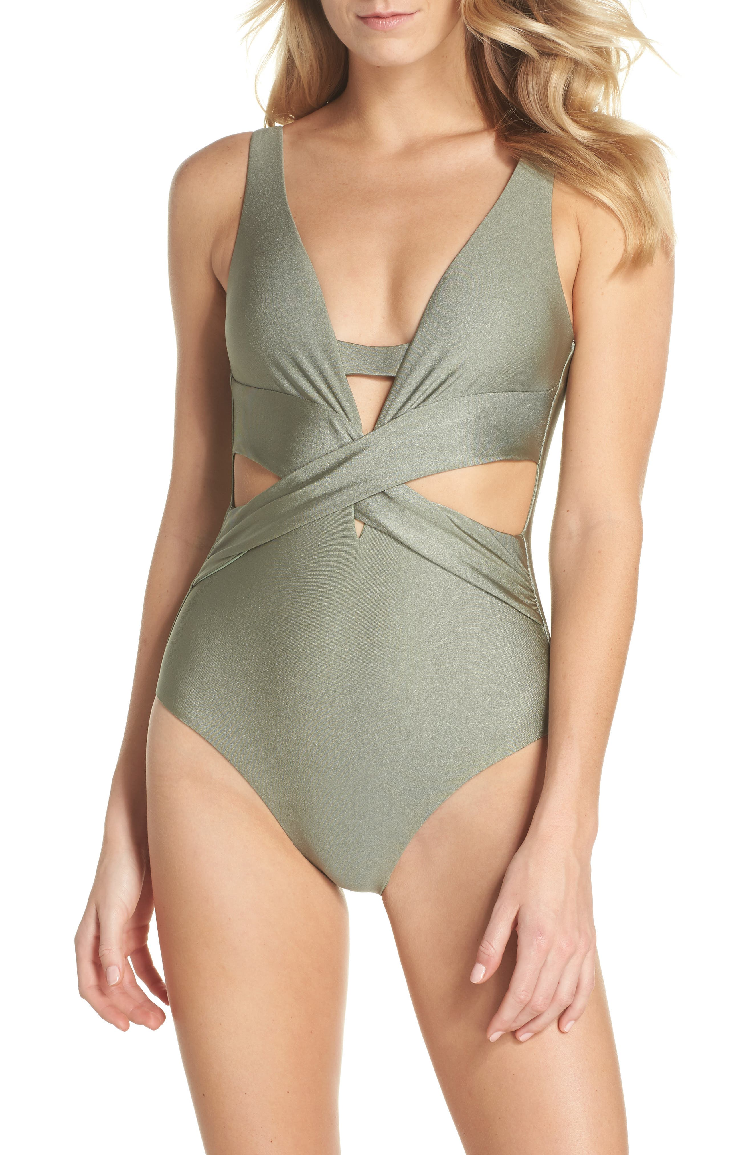Becca Ballerina One-Piece Swimsuit, Green