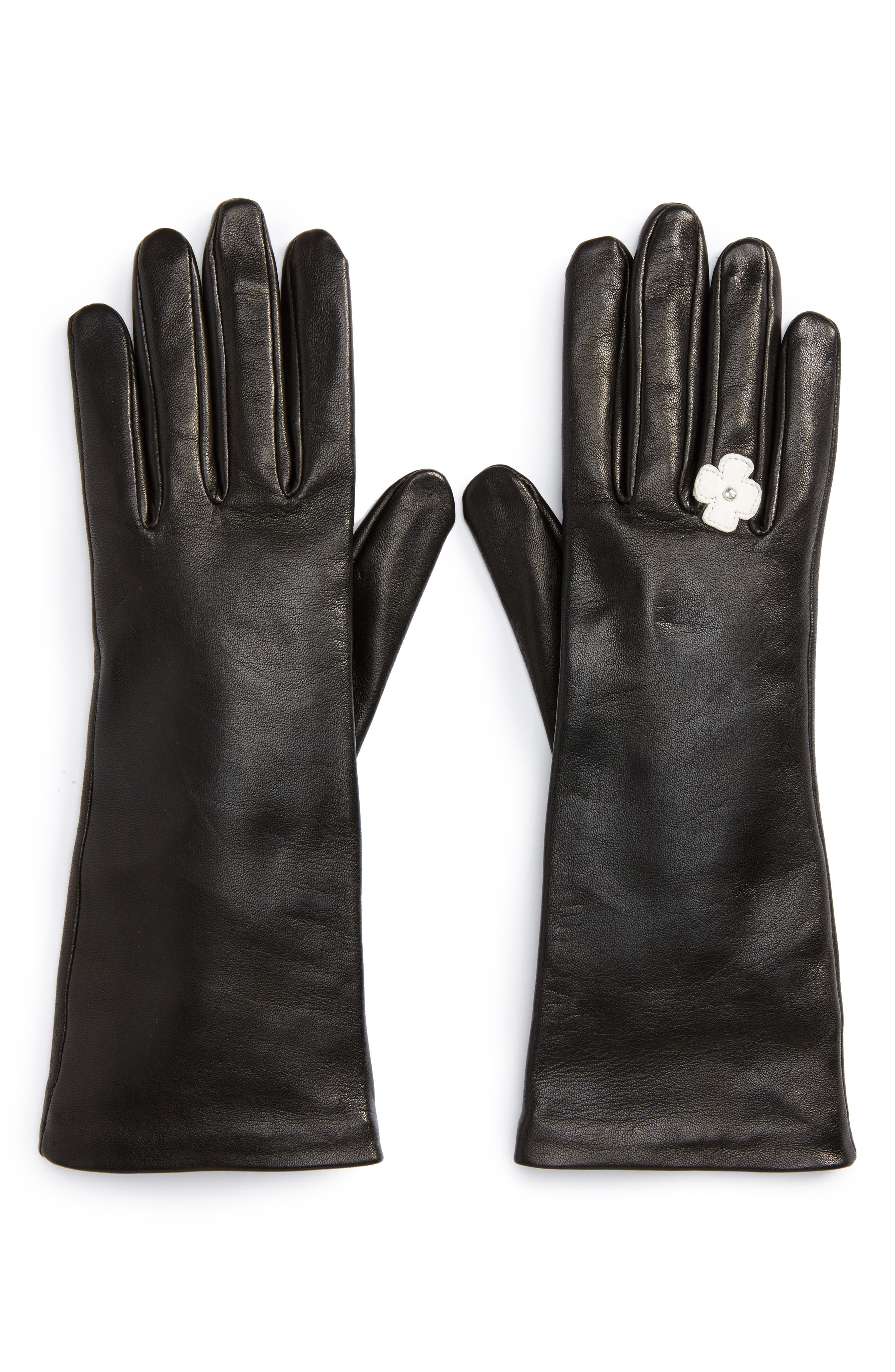 Lambskin Leather Gloves,                             Alternate thumbnail 2, color,                             001