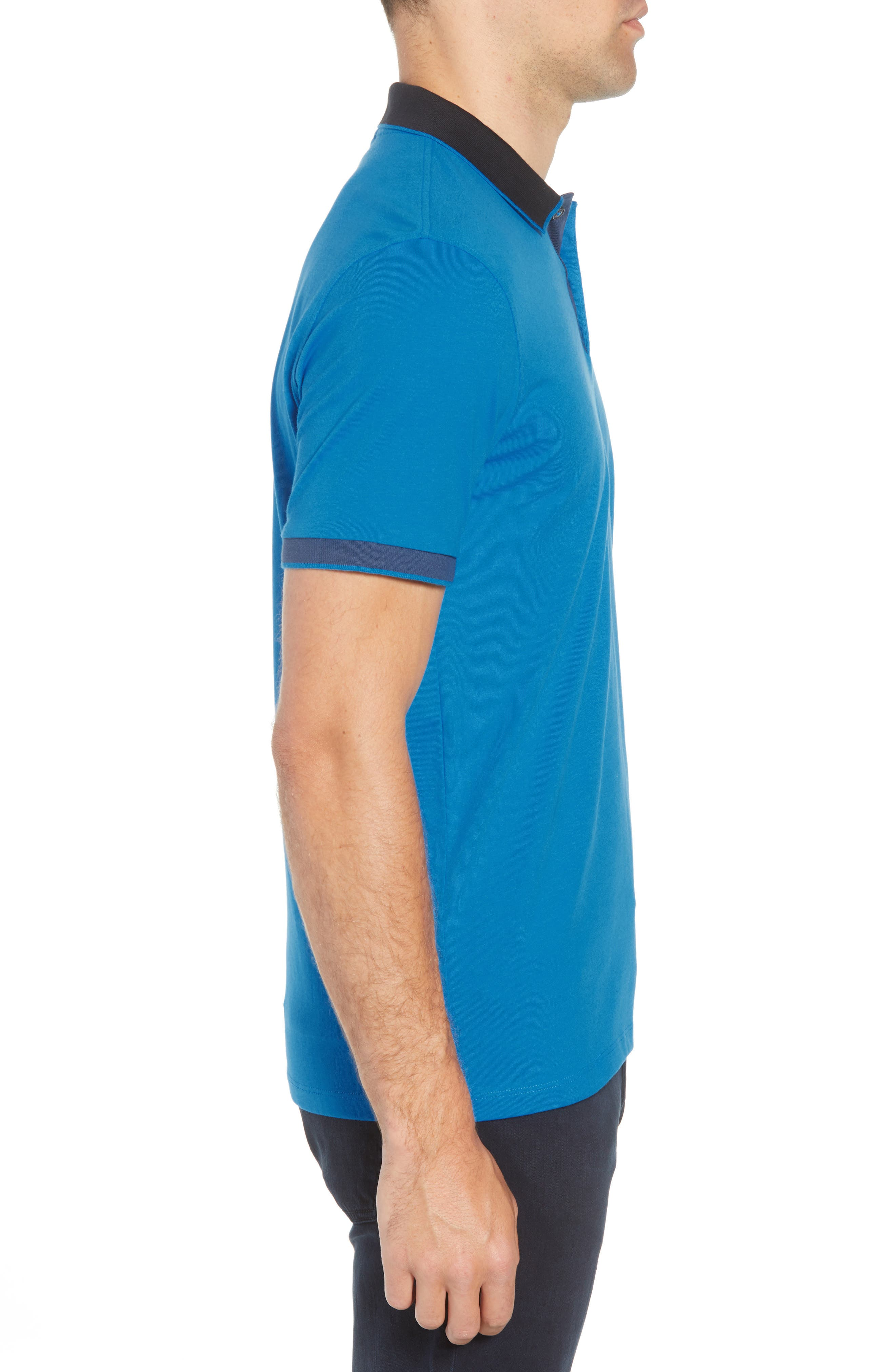 Parlay Regular Fit Contrast Polo,                             Alternate thumbnail 3, color,                             BLUE