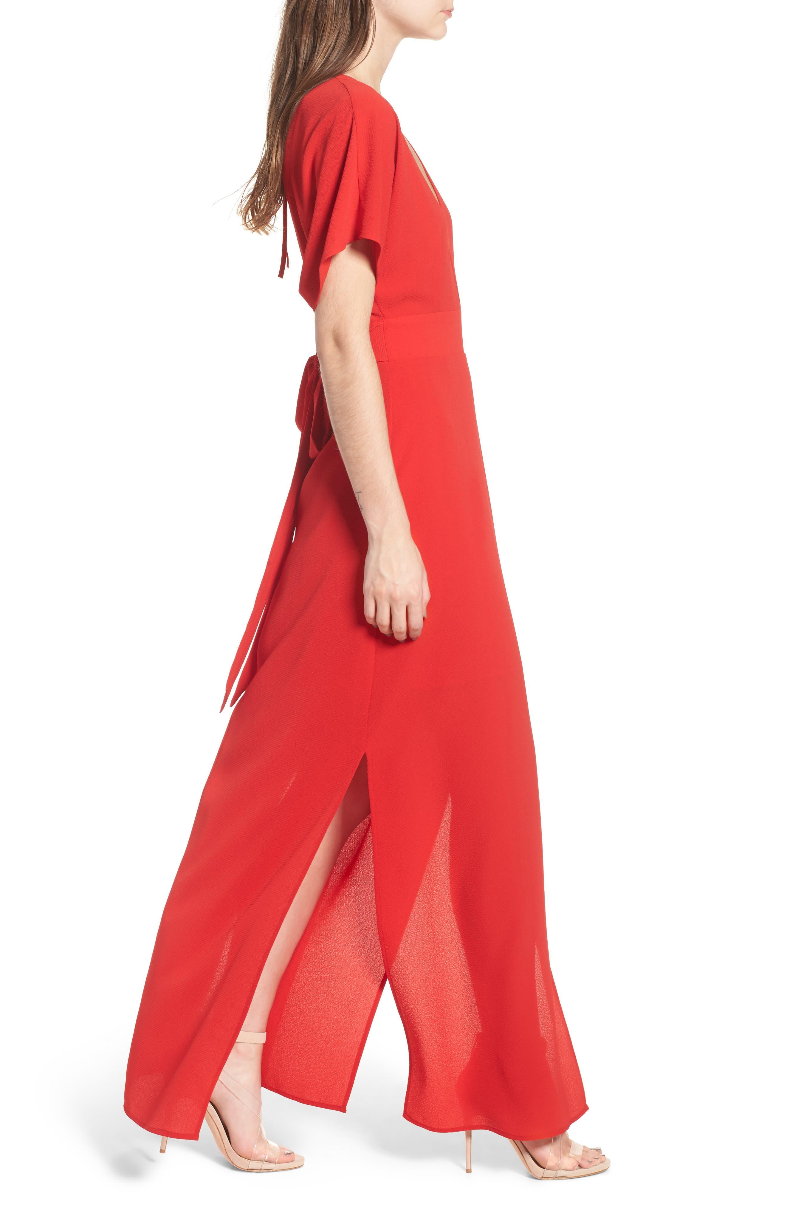 Carrara Slit Maxi Dress,                             Alternate thumbnail 6, color,