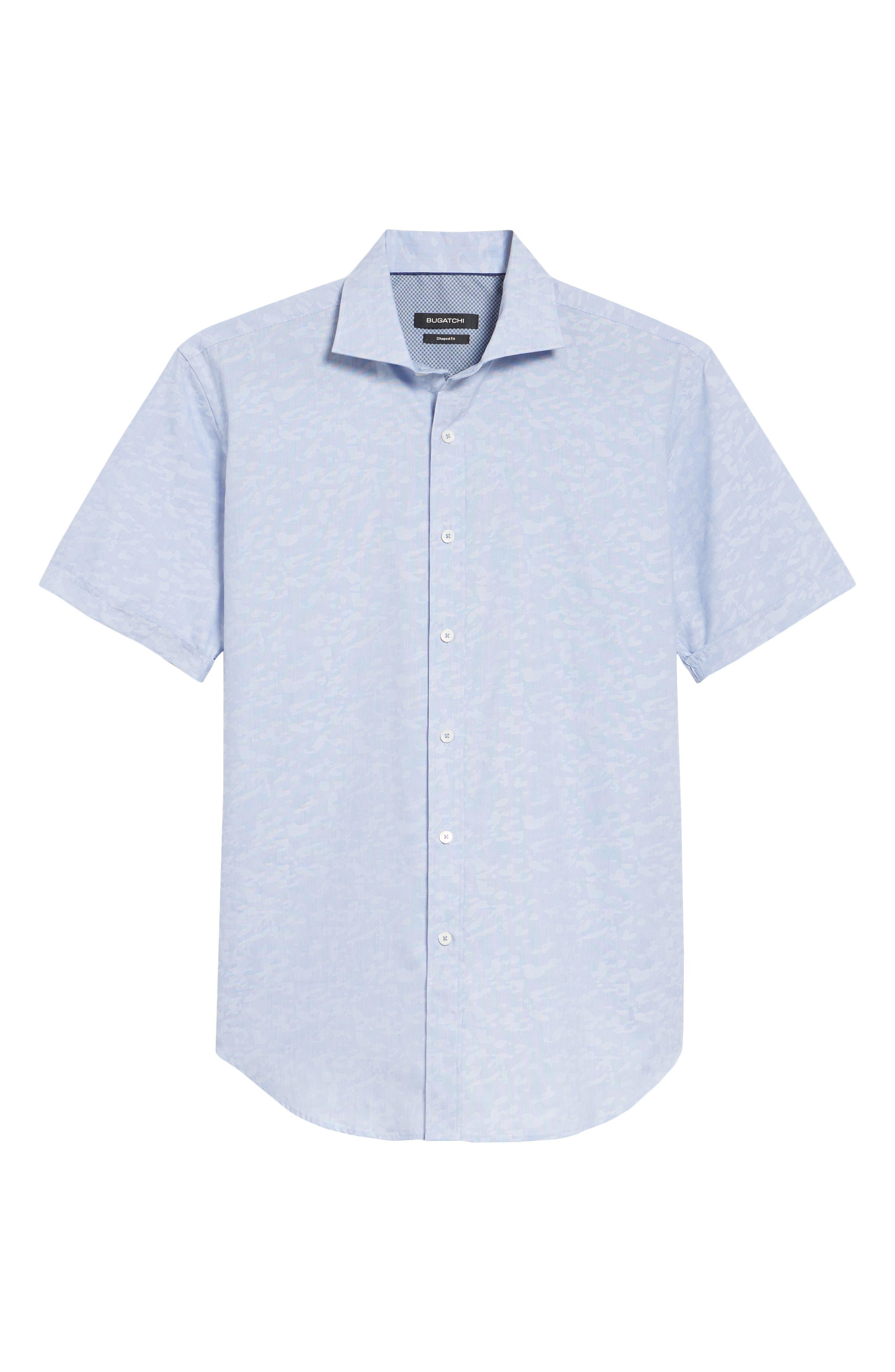 Woven Sport Shirt,                             Alternate thumbnail 6, color,                             CLASSIC BLUE