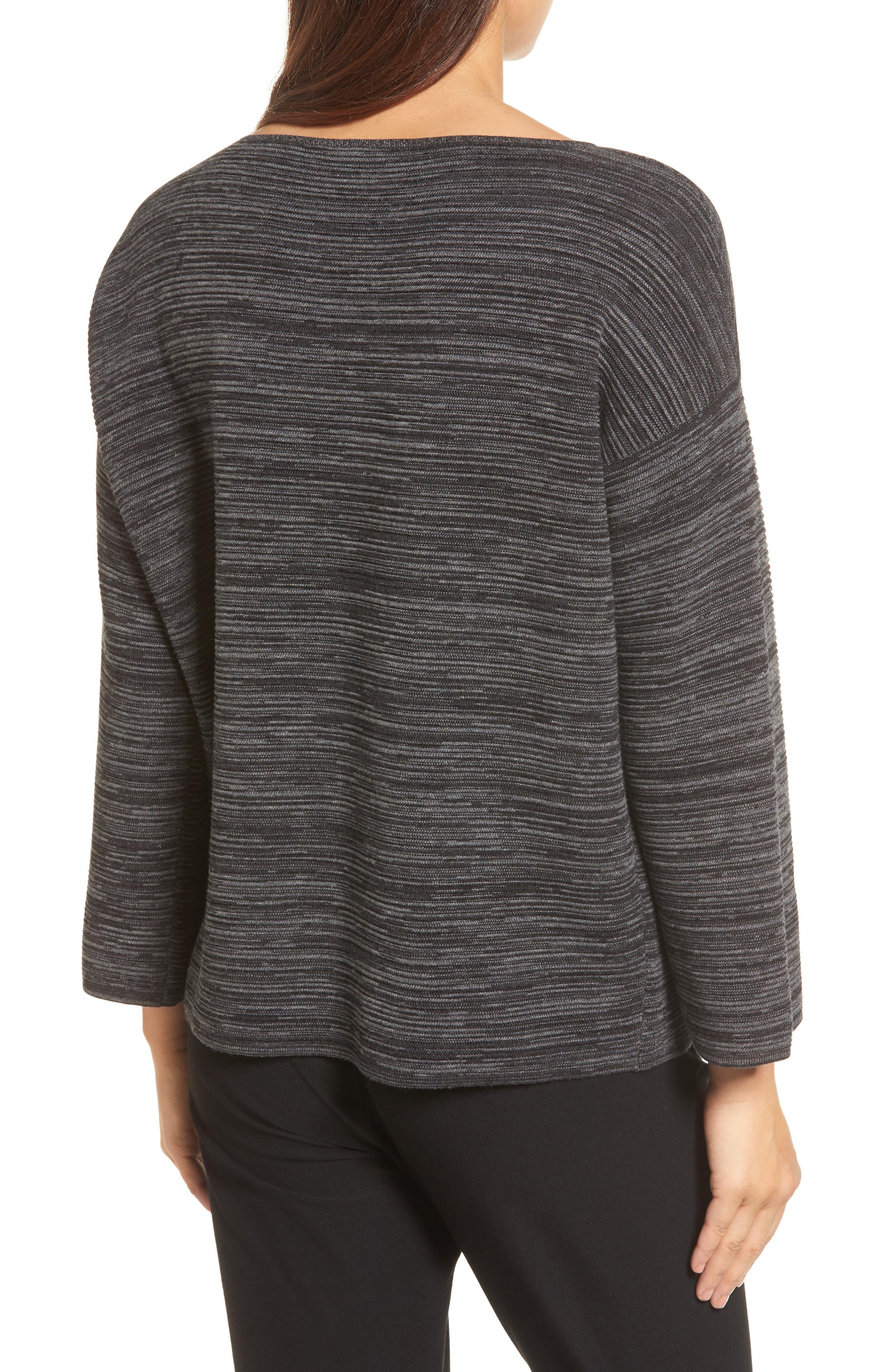 Tencel<sup>®</sup> & Organic Cotton Sweater,                             Alternate thumbnail 2, color,                             001