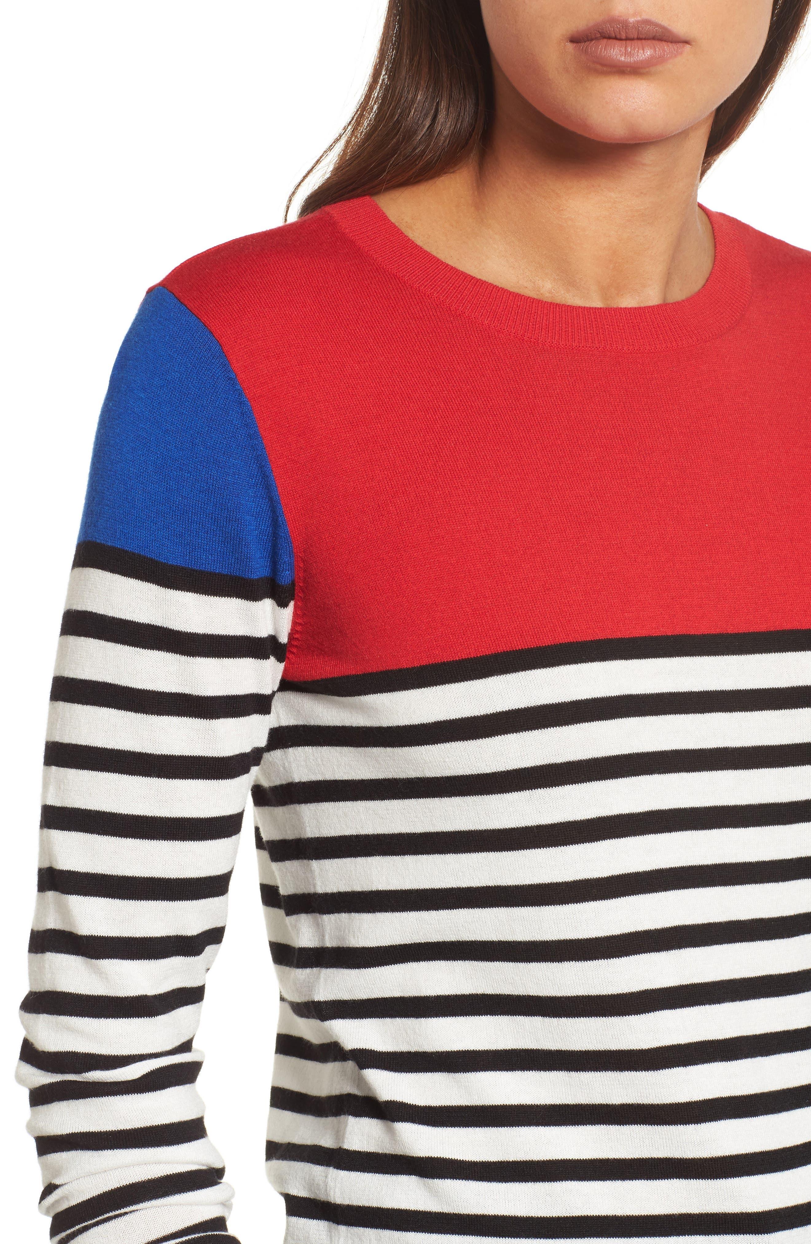 Colorblock Stripe Sweater,                             Alternate thumbnail 14, color,