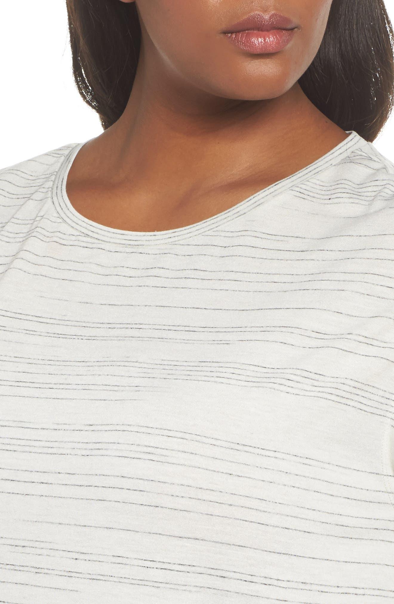 Cap Sleeve Asymmetrical Tee,                             Alternate thumbnail 4, color,                             900