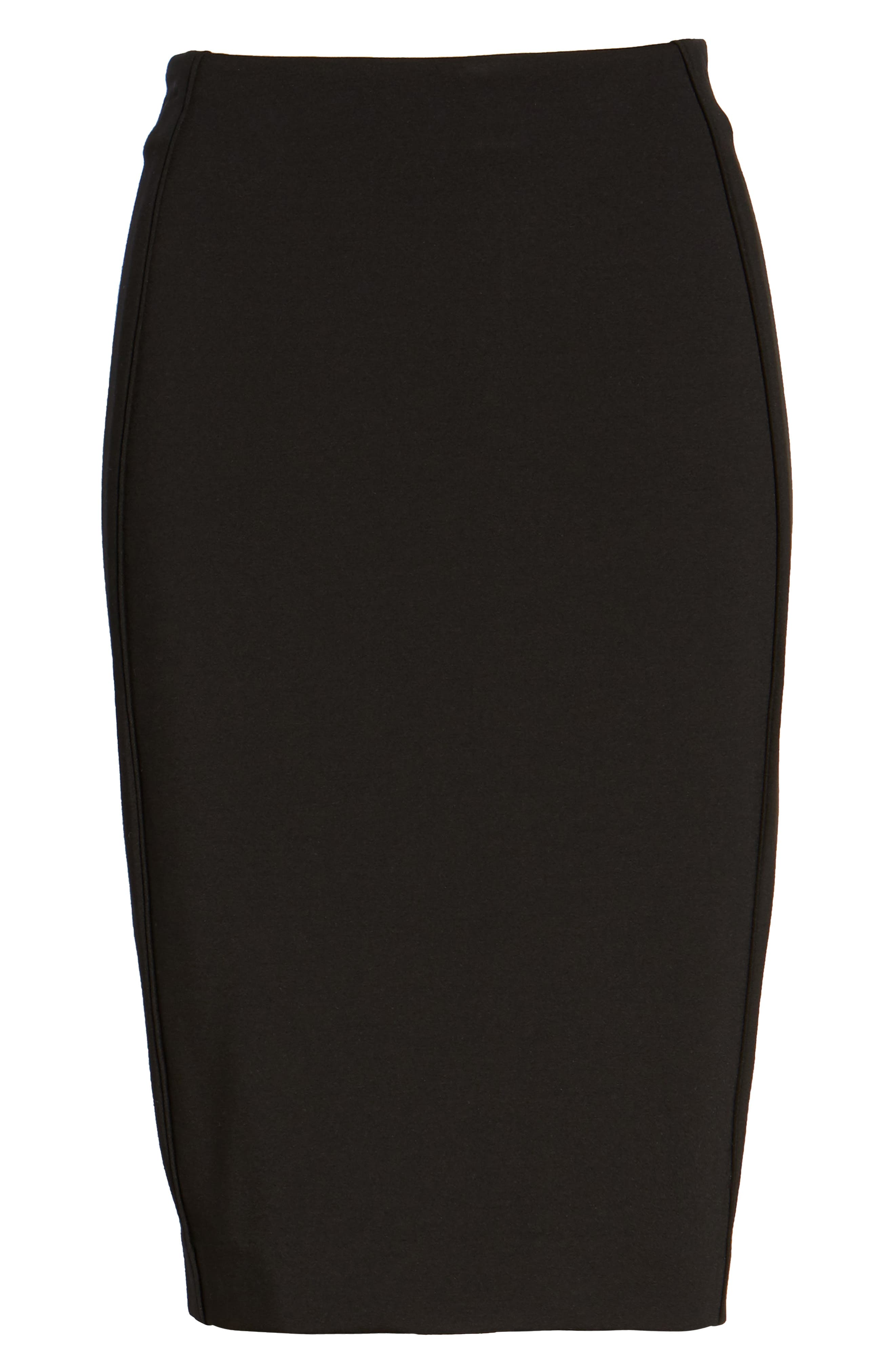 Ponte Pencil Skirt,                             Alternate thumbnail 6, color,                             002