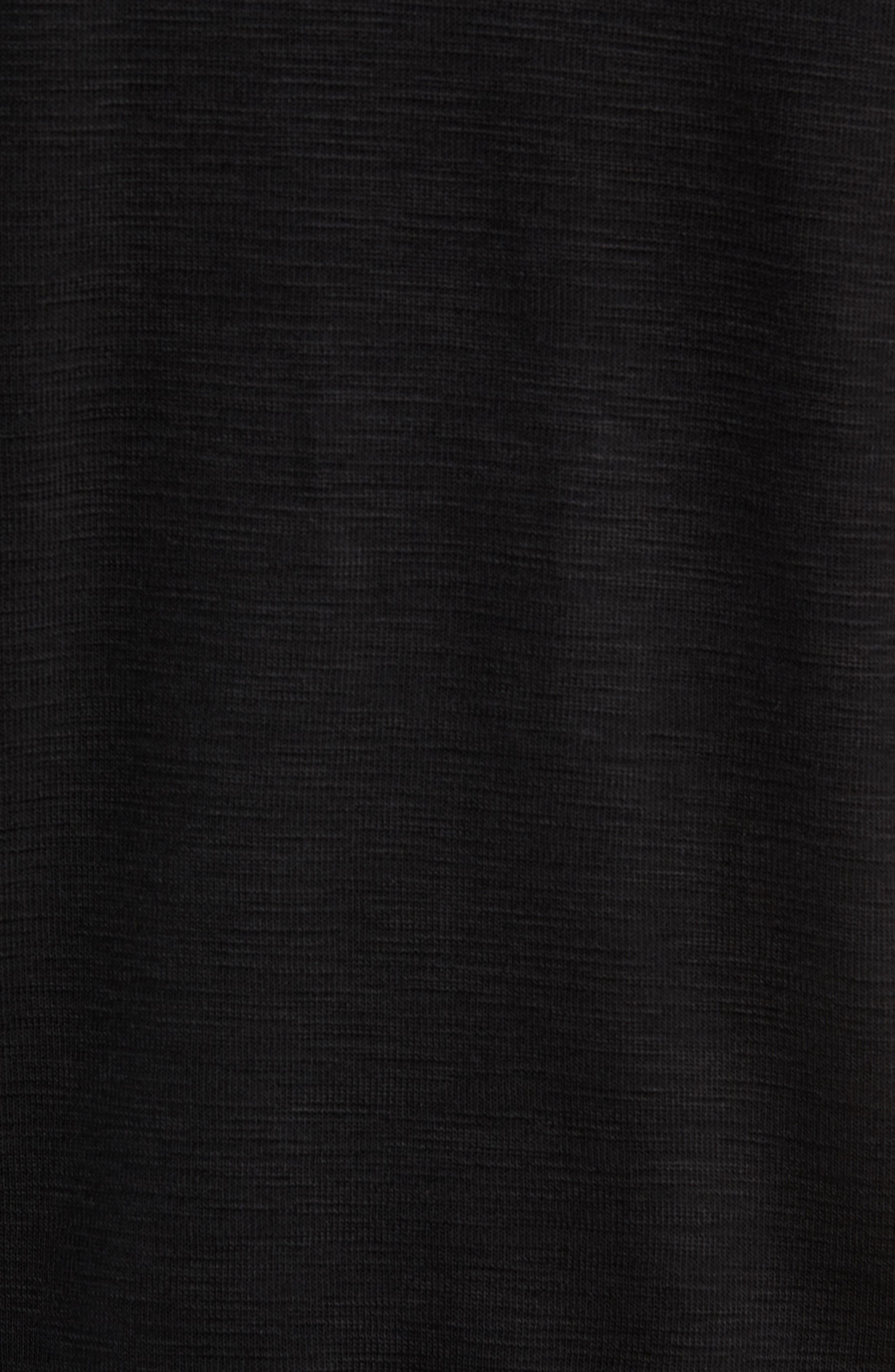 Tobago Half Zip Pullover,                             Alternate thumbnail 5, color,                             BLACK
