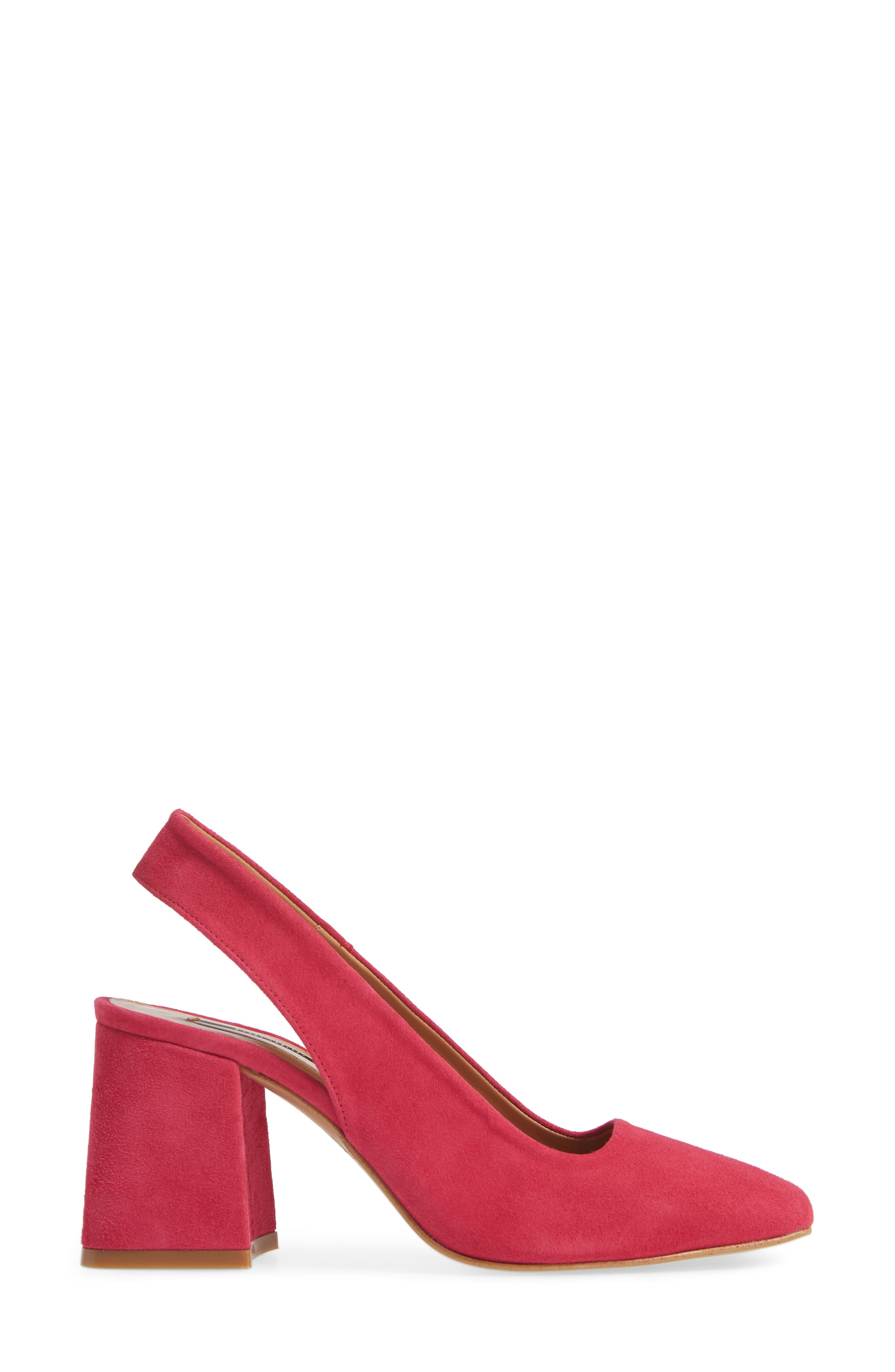 Gainor Block Heel Slingback Pump,                             Alternate thumbnail 3, color,                             PINK