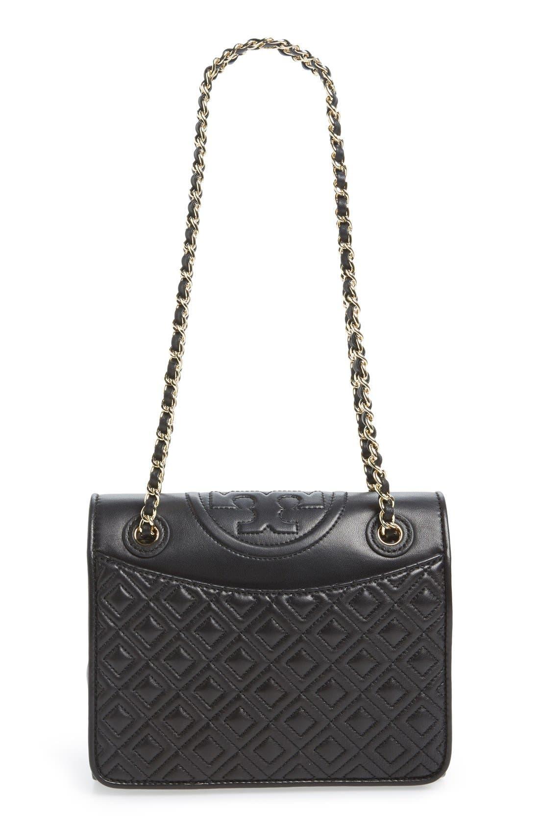 'Medium Fleming' Leather Shoulder Bag,                             Main thumbnail 1, color,                             001