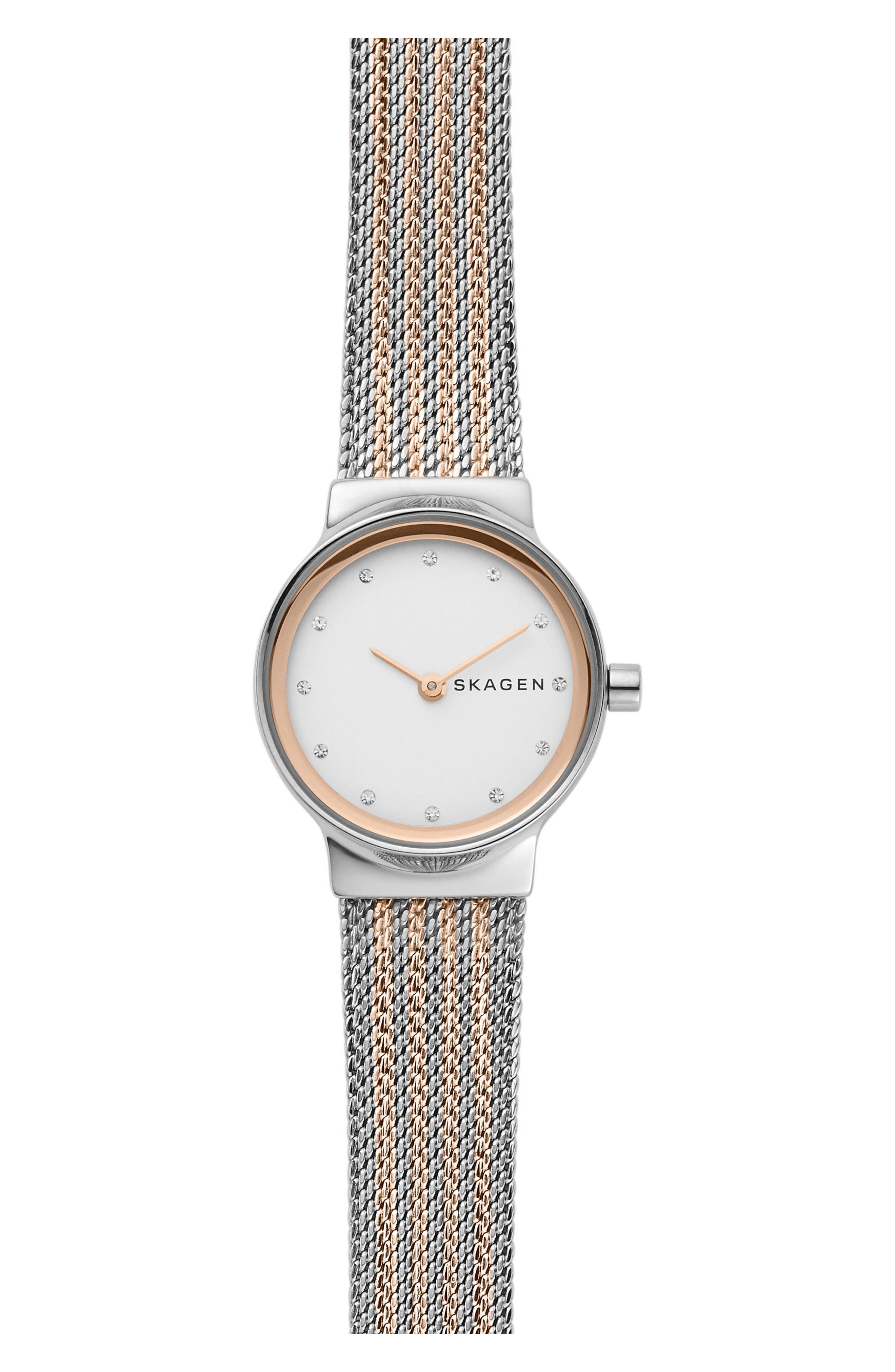Freja Crystal Accent Mesh Strap Watch, 26mm,                             Main thumbnail 2, color,
