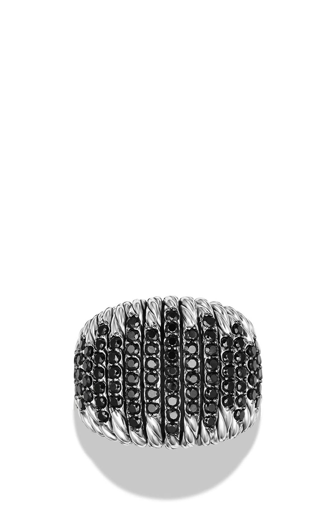 DAVID YURMAN,                             'Tempo' Ring with Spinel,                             Alternate thumbnail 3, color,                             BLACK SPINEL