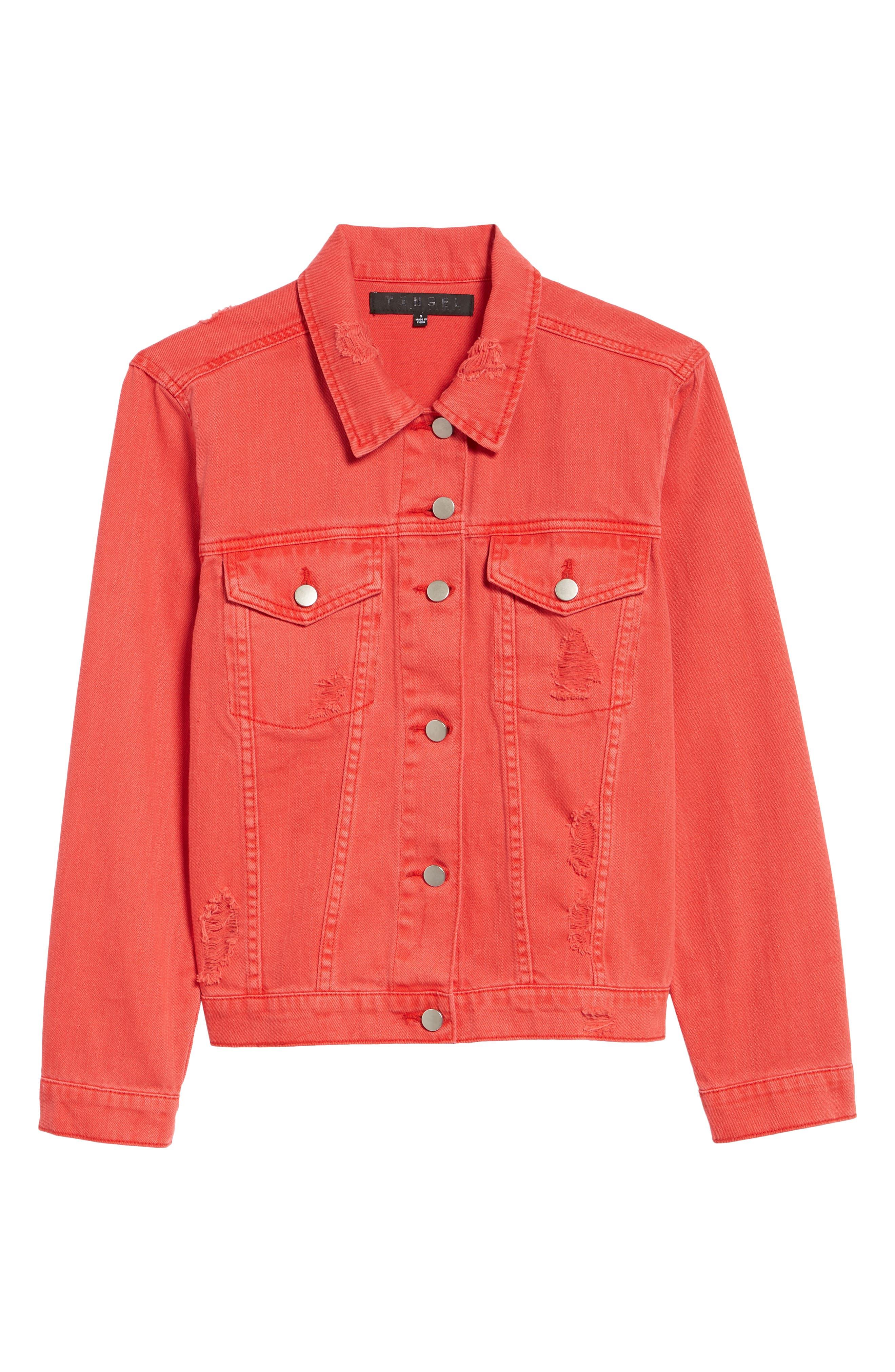 Decon Distressed Denim Jacket,                             Alternate thumbnail 6, color,
