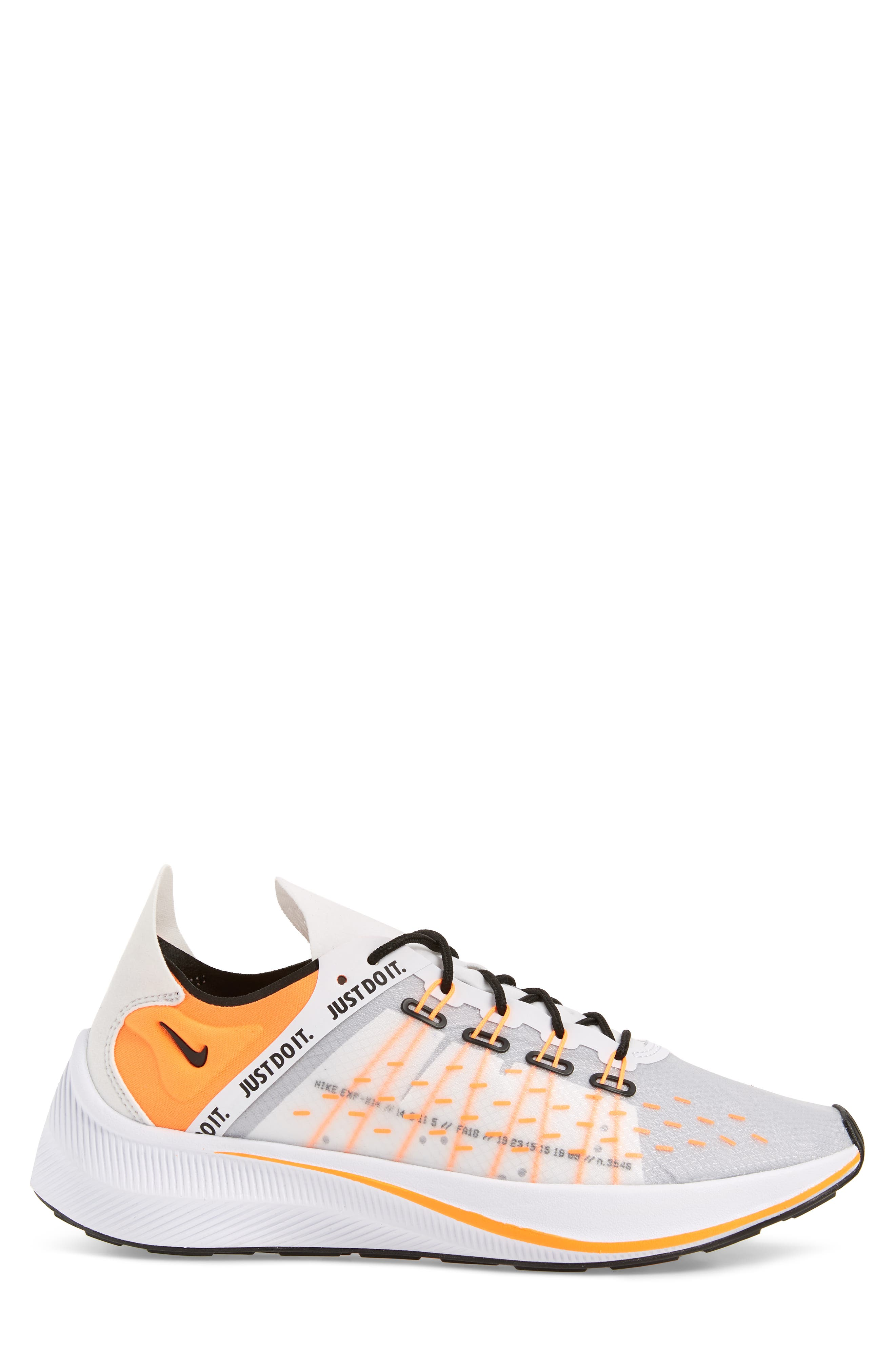 EXP-X14 Just Do It Sneaker,                             Alternate thumbnail 3, color,                             WHITE/ TOTAL ORANGE/ BLACK
