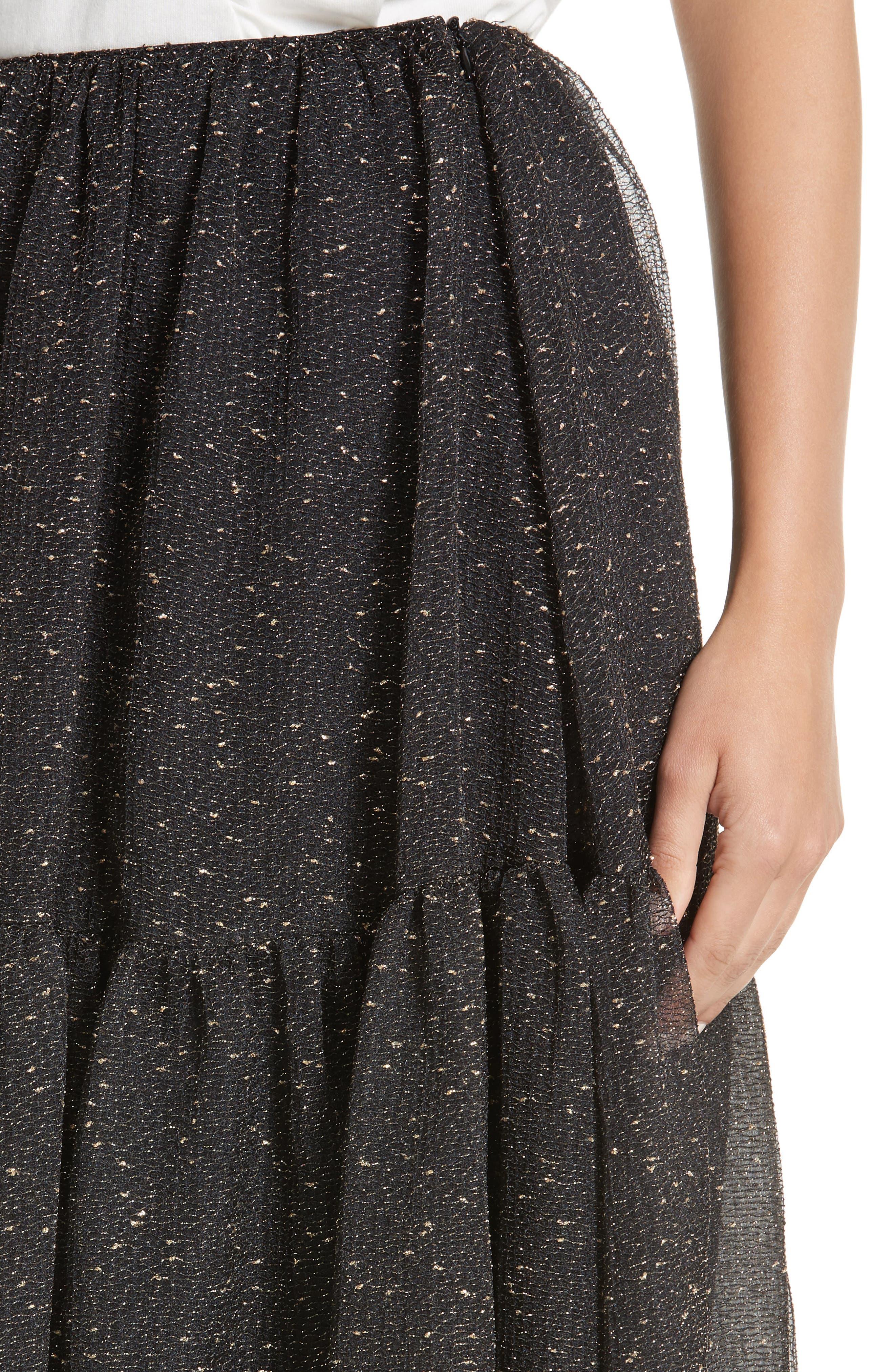 Tiered Organza Maxi Skirt,                             Alternate thumbnail 4, color,                             015