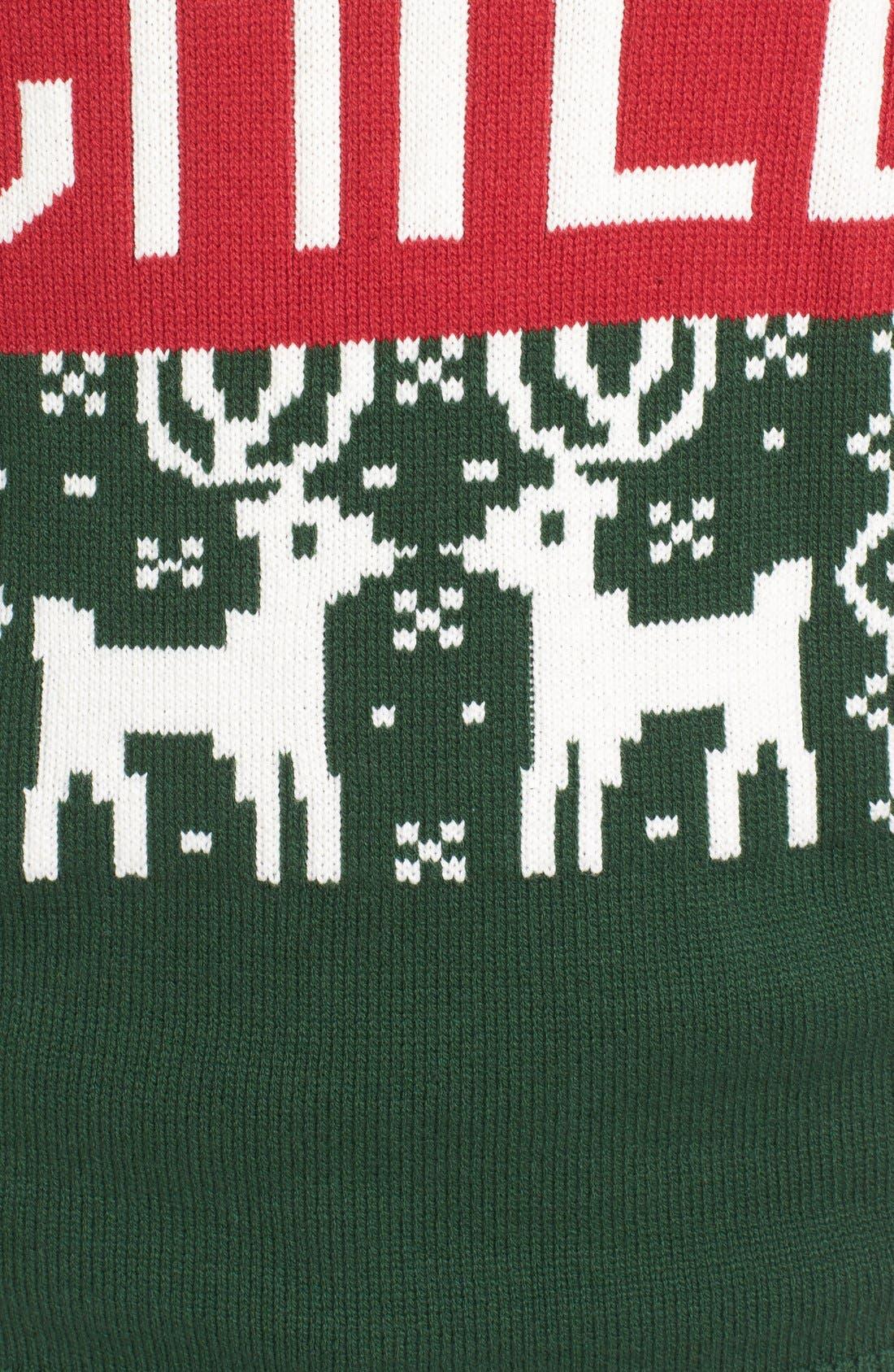 'Chill Vibes' Intarsia Crewneck Sweater,                             Alternate thumbnail 5, color,                             641
