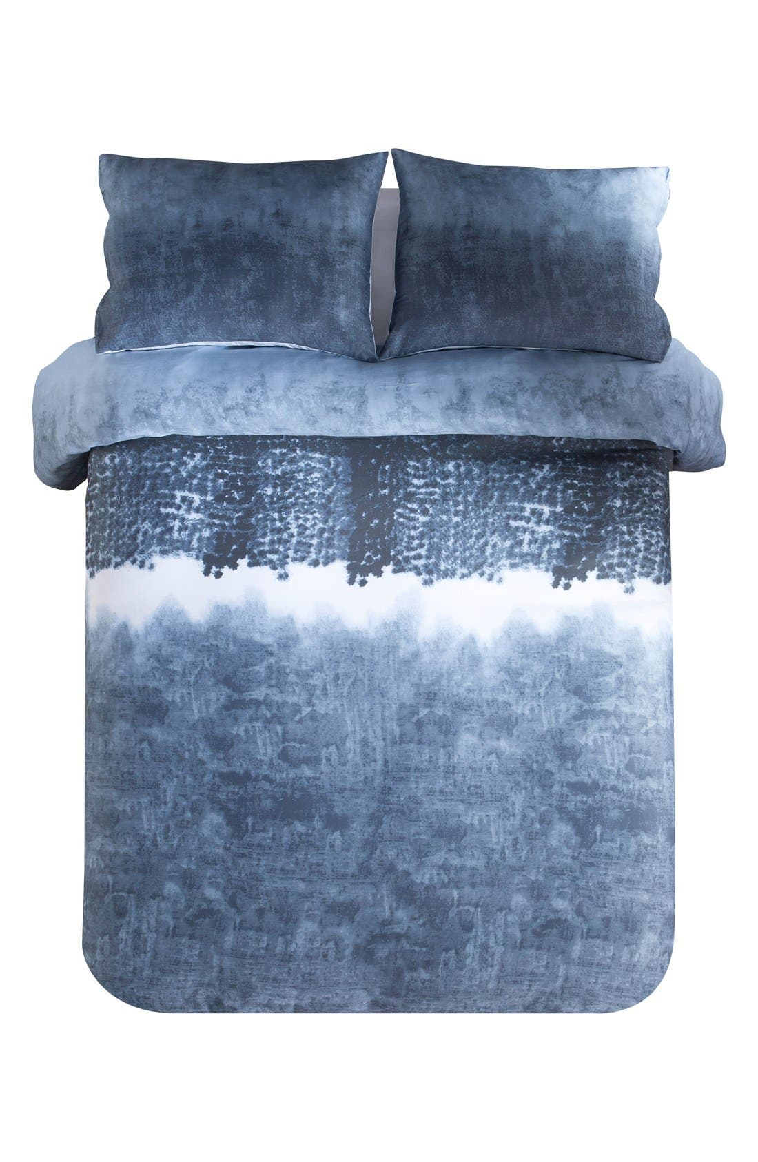 Janie 300 Thread Count Duvet Cover & Sham Set,                             Main thumbnail 1, color,                             DENIM BLUE