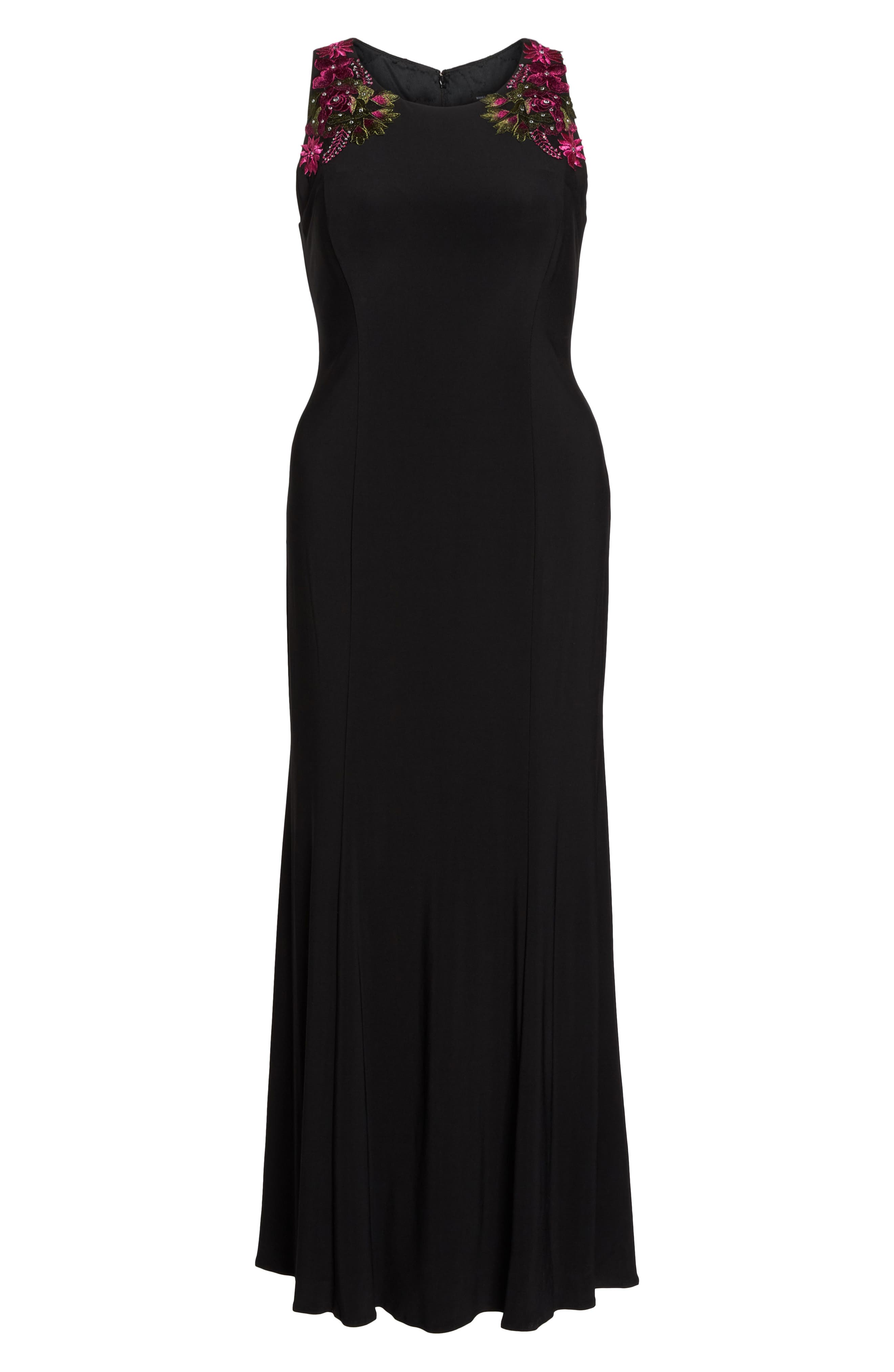 Embellished Sheath Gown,                             Alternate thumbnail 7, color,                             015