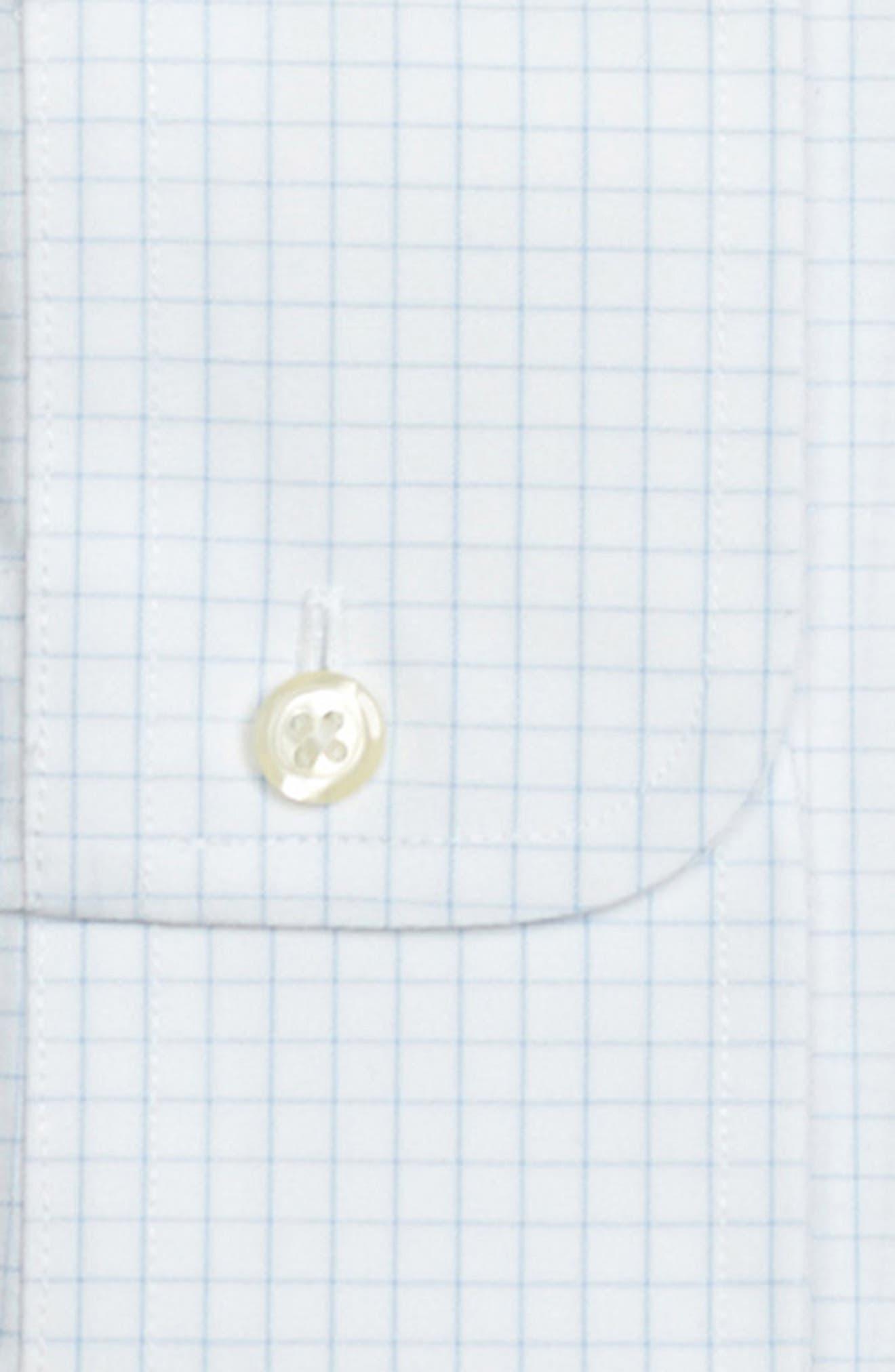 Trim Fit Check Dress Shirt,                             Alternate thumbnail 2, color,                             LIGHT/ PASTEL BLUE