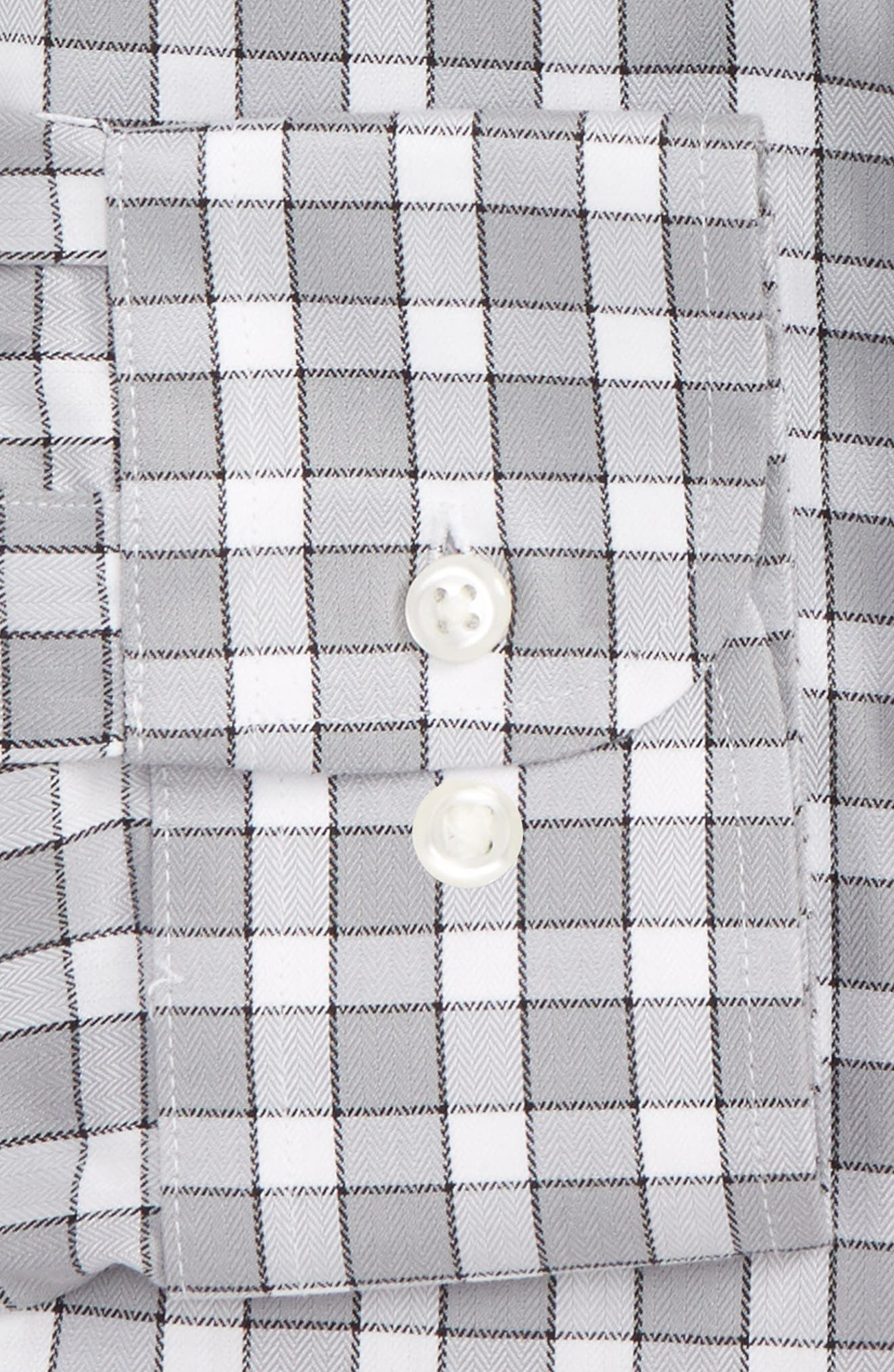 Smartcare<sup>™</sup> Trim Fit Check Dress Shirt,                             Alternate thumbnail 2, color,                             050