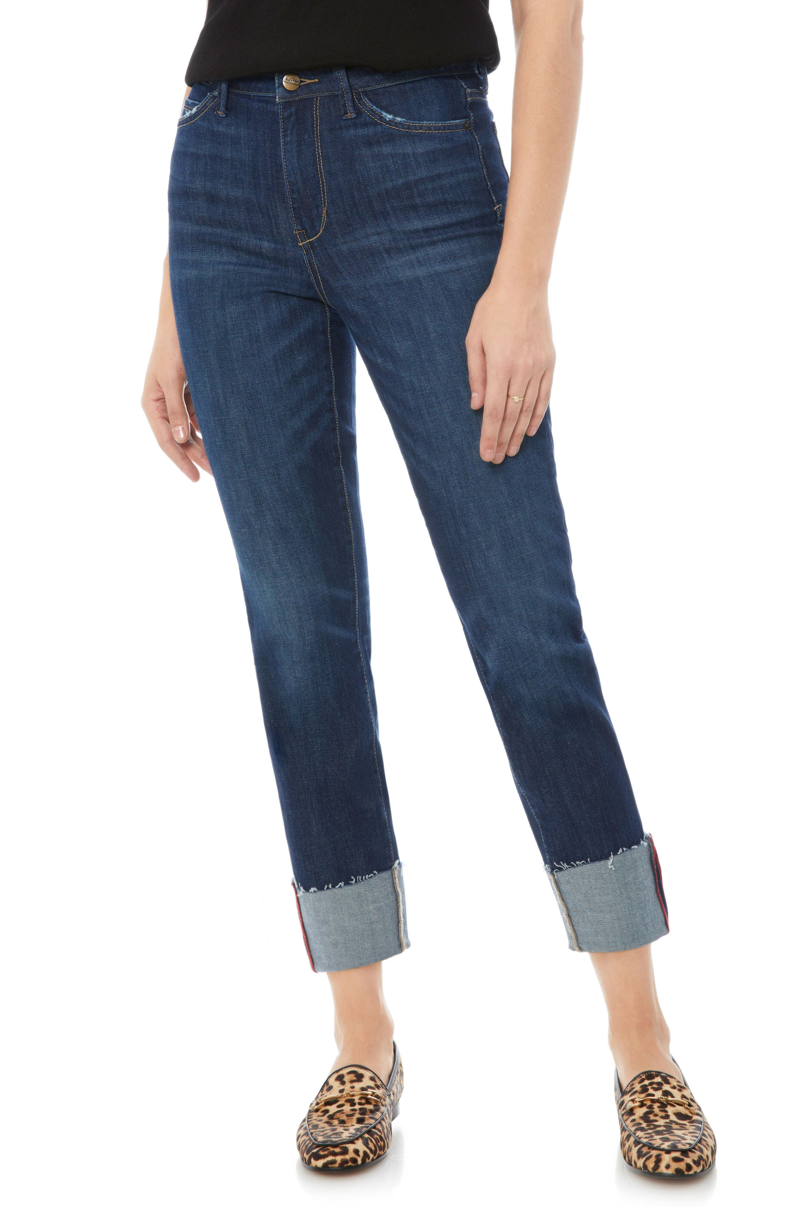 The Mary Jane Oversize Cuff Jeans,                         Main,                         color, 400