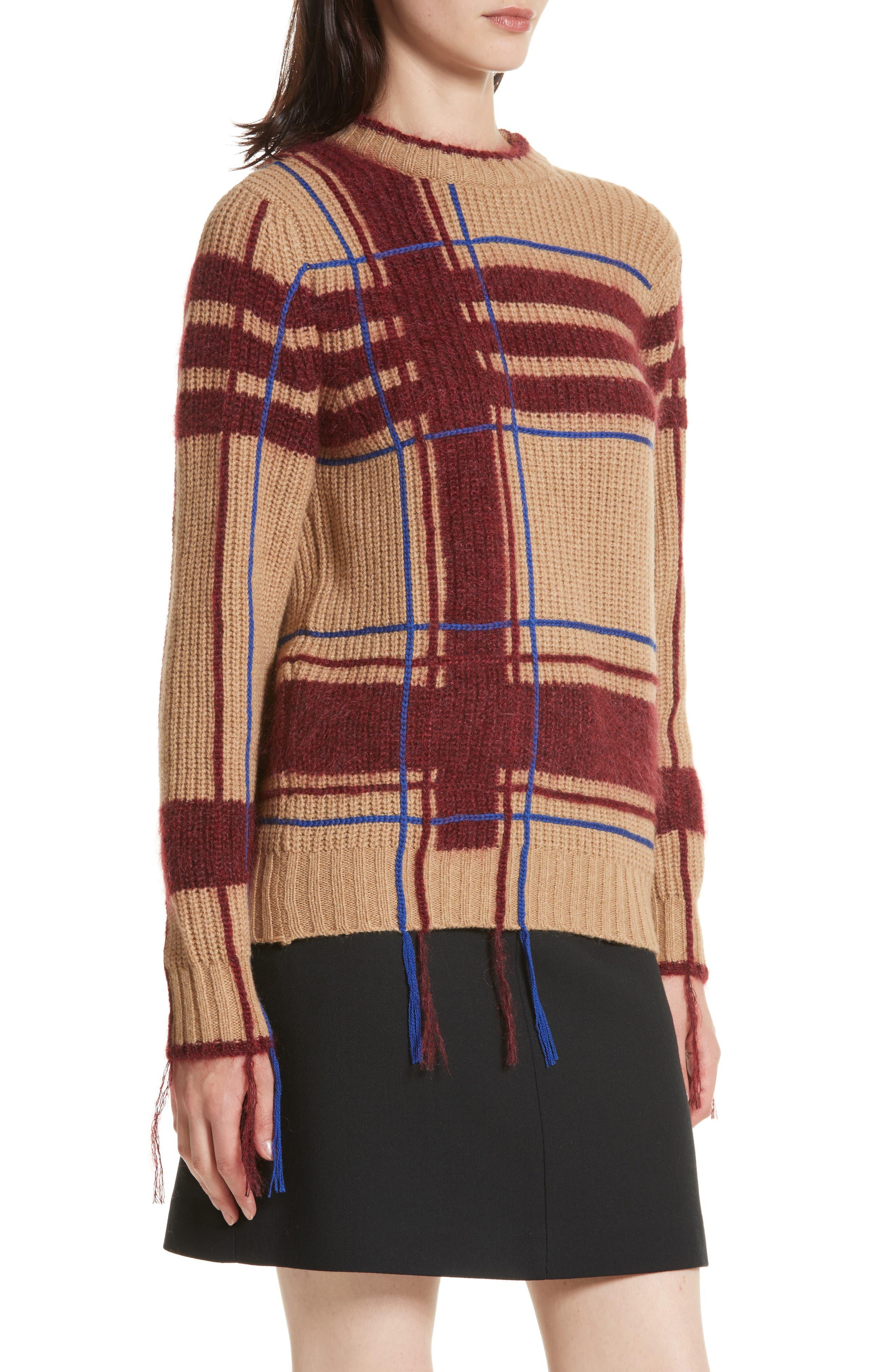 Eden Plaid Sweater,                             Alternate thumbnail 4, color,                             250