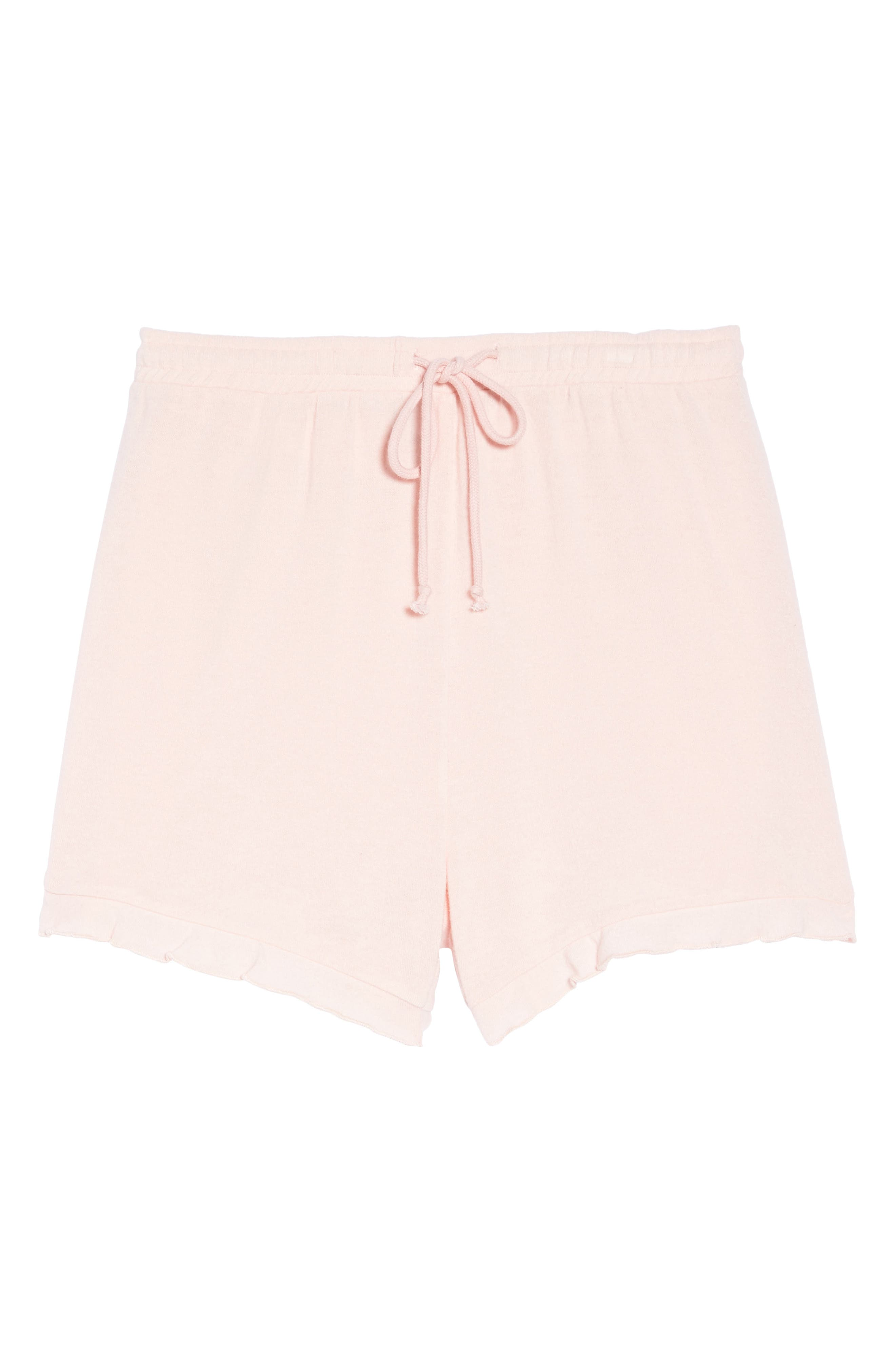Ruffle Lounge Shorts,                             Alternate thumbnail 6, color,