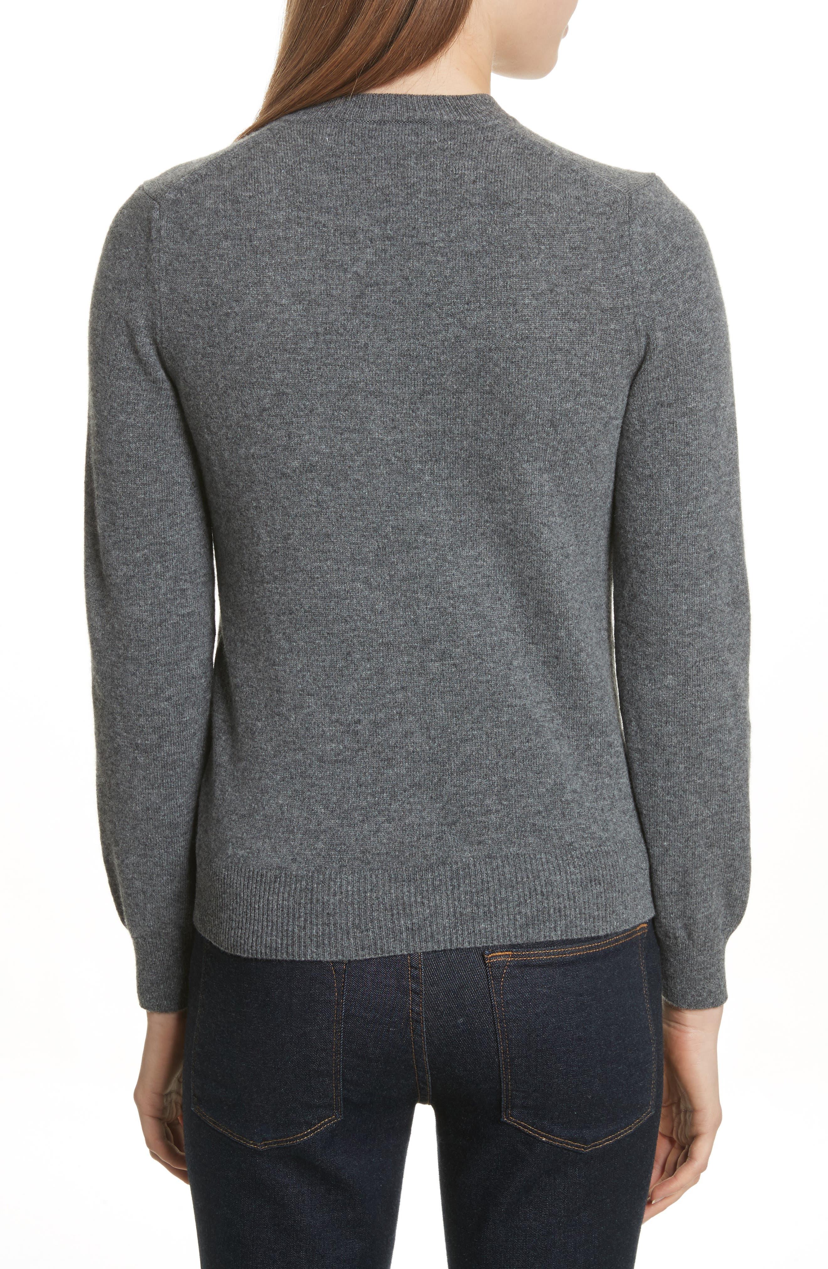 Wool V-Neck Sweater,                             Alternate thumbnail 2, color,                             GREY
