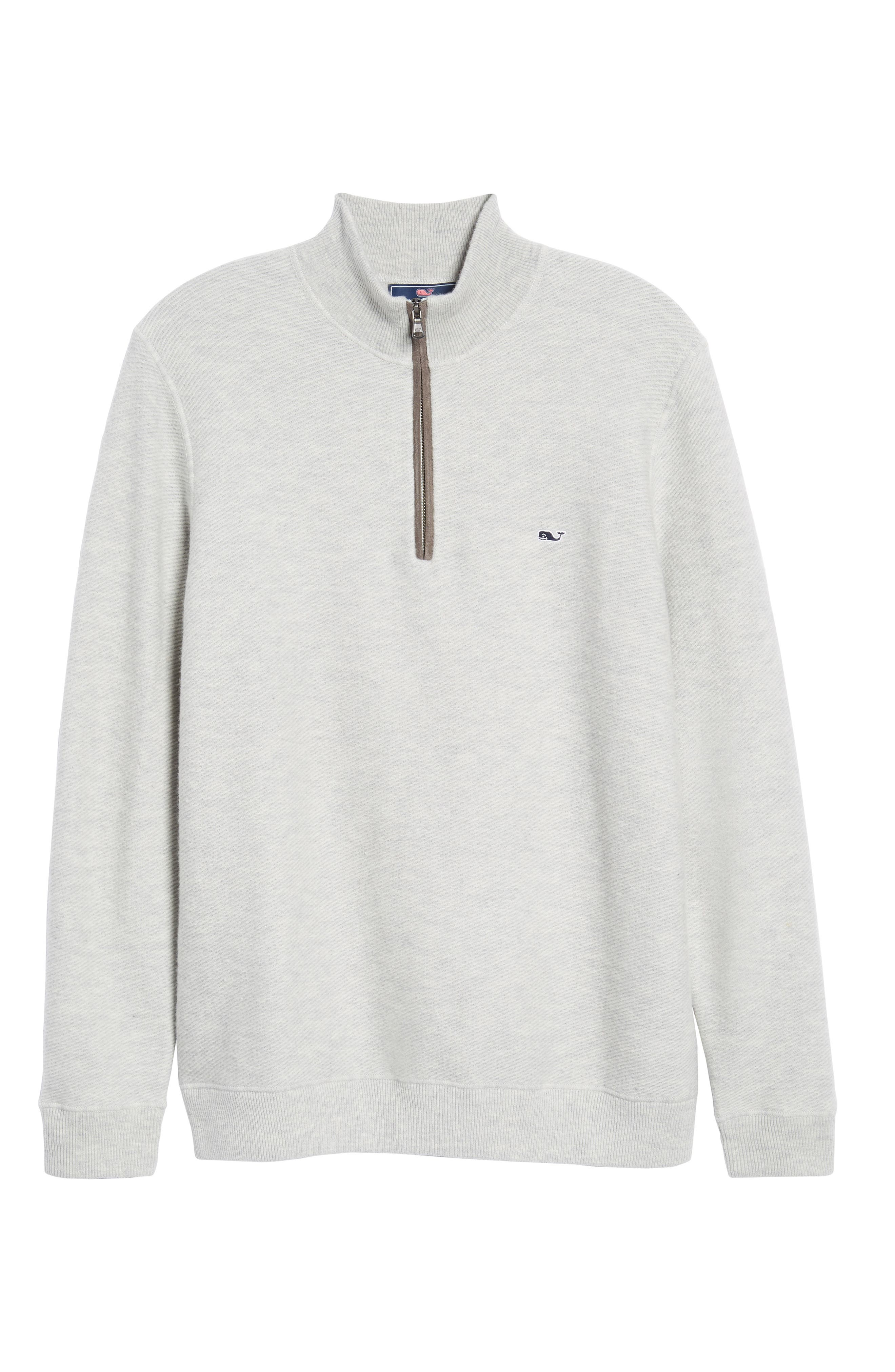 Merino Wool Twill Stitch Quarter Zip Sweater,                             Alternate thumbnail 6, color,                             039