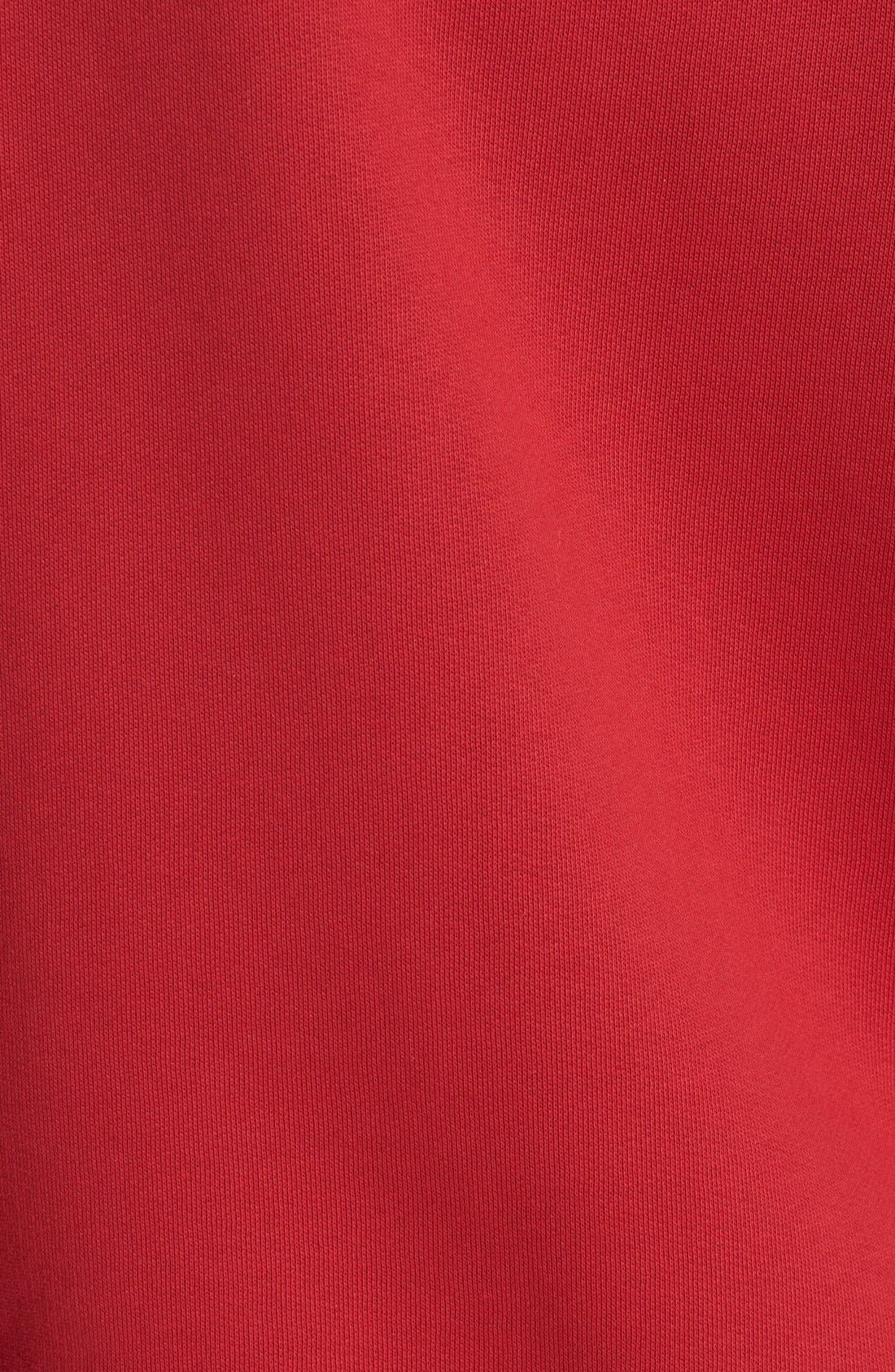 Check Print Hoodie,                             Alternate thumbnail 7, color,                             PARADE RED