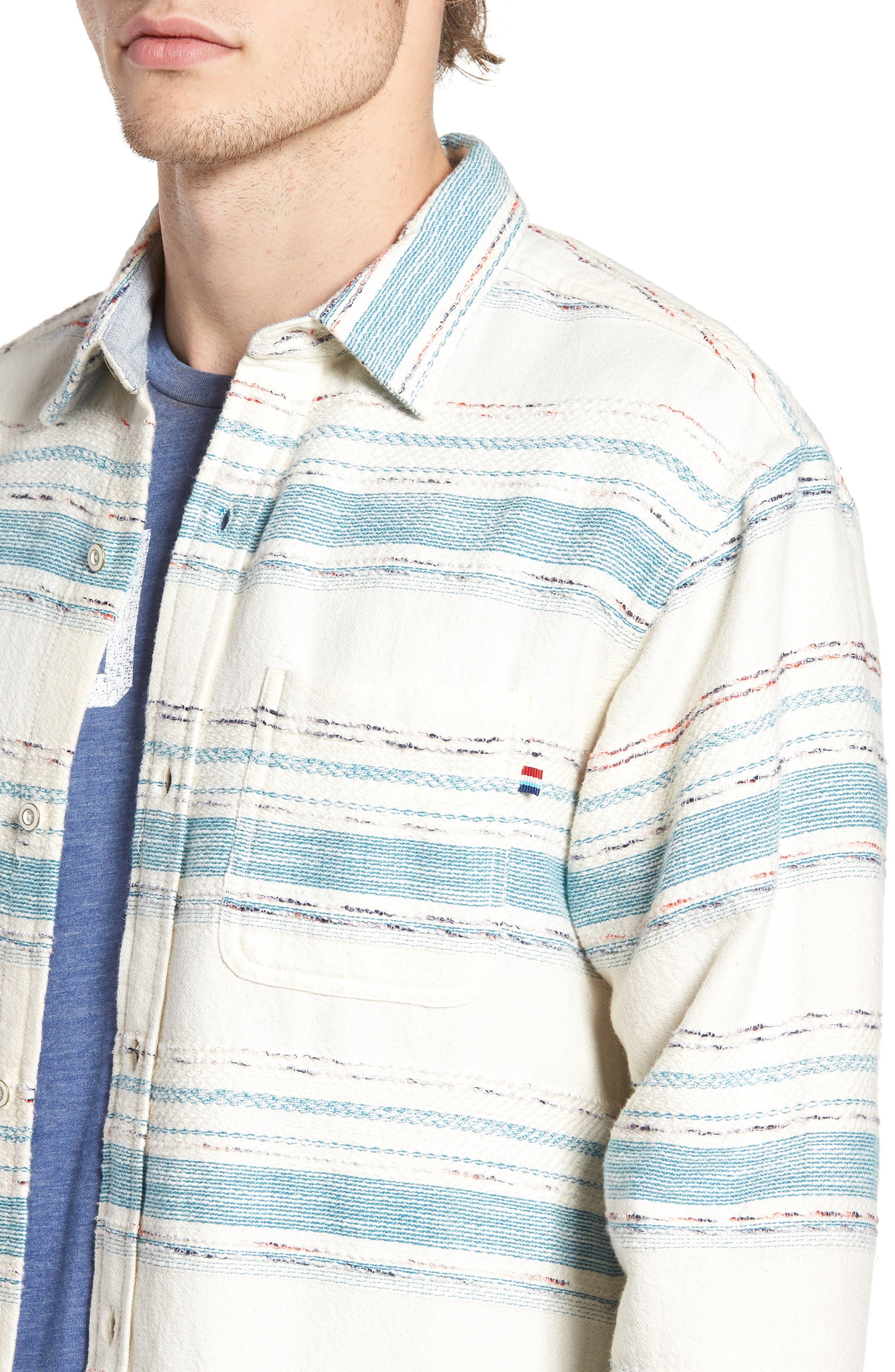 Sedona Stripe Woven Shirt,                             Alternate thumbnail 4, color,                             101