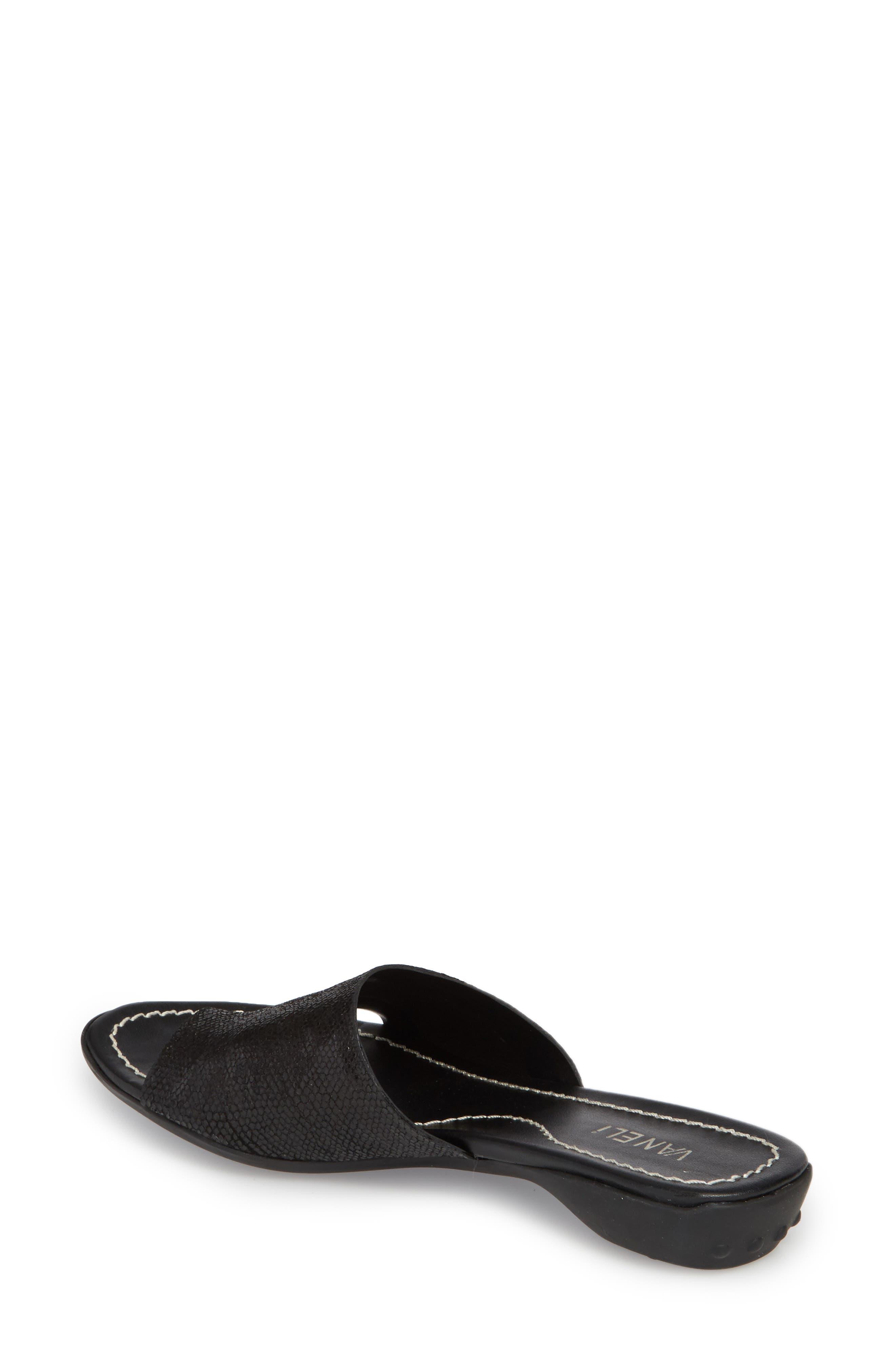 'Tallis' Snake Embossed Leather Slide Sandal,                             Alternate thumbnail 8, color,