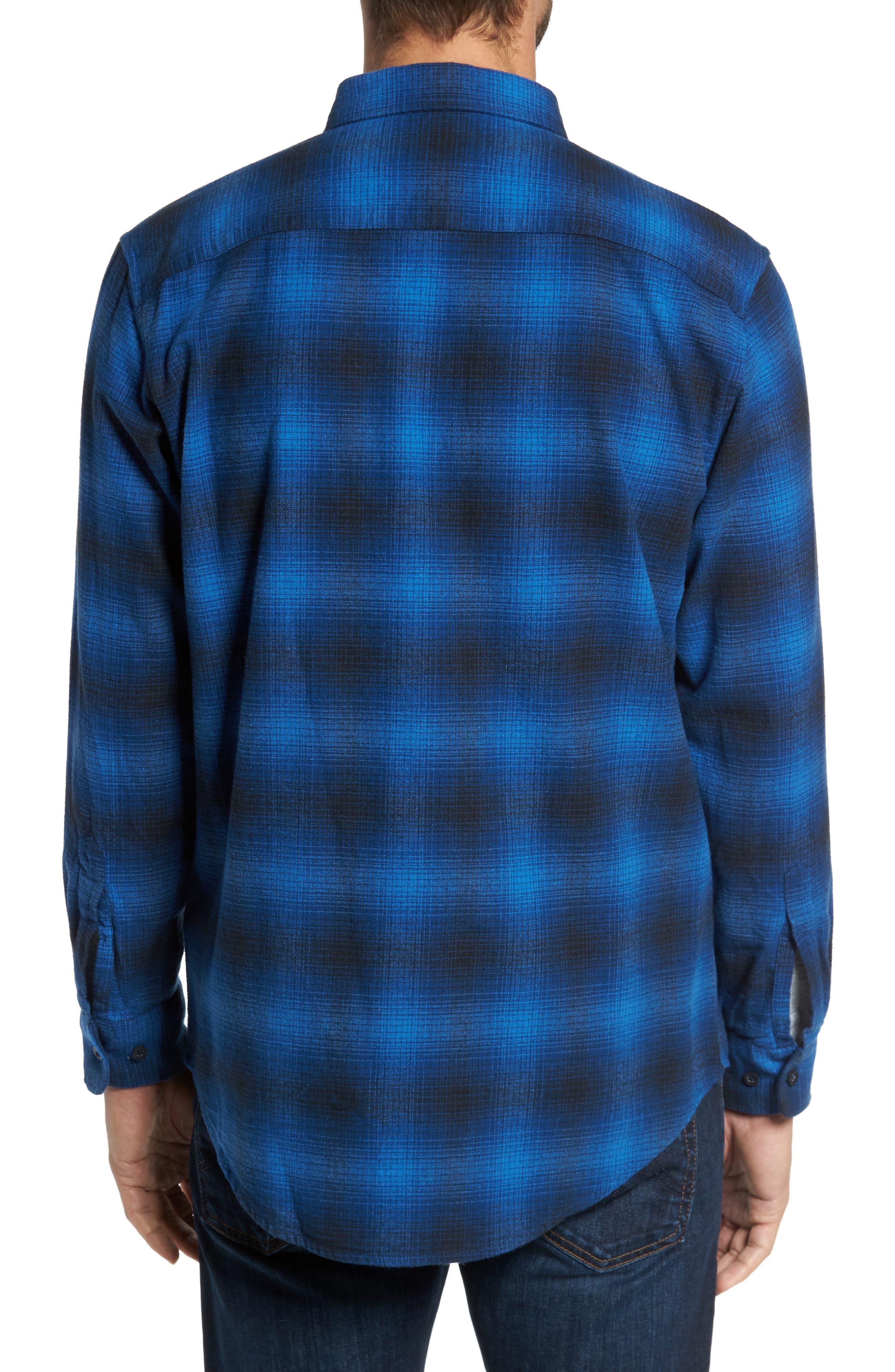 Lister Ombré Plaid Sport Shirt,                             Alternate thumbnail 3, color,