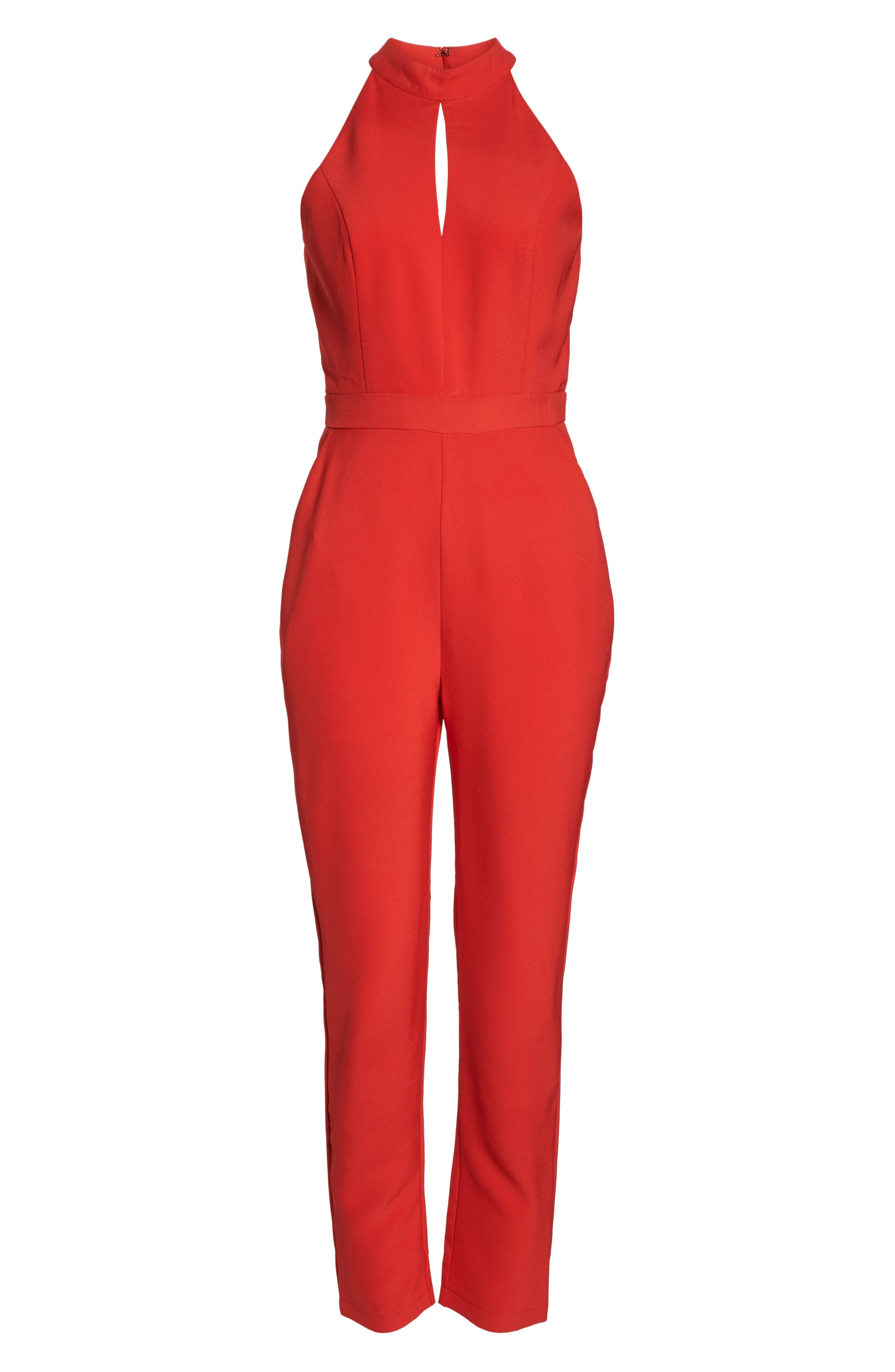 ADELYN RAE,                             Shaylie Scalloped Back Jumpsuit,                             Alternate thumbnail 7, color,                             600