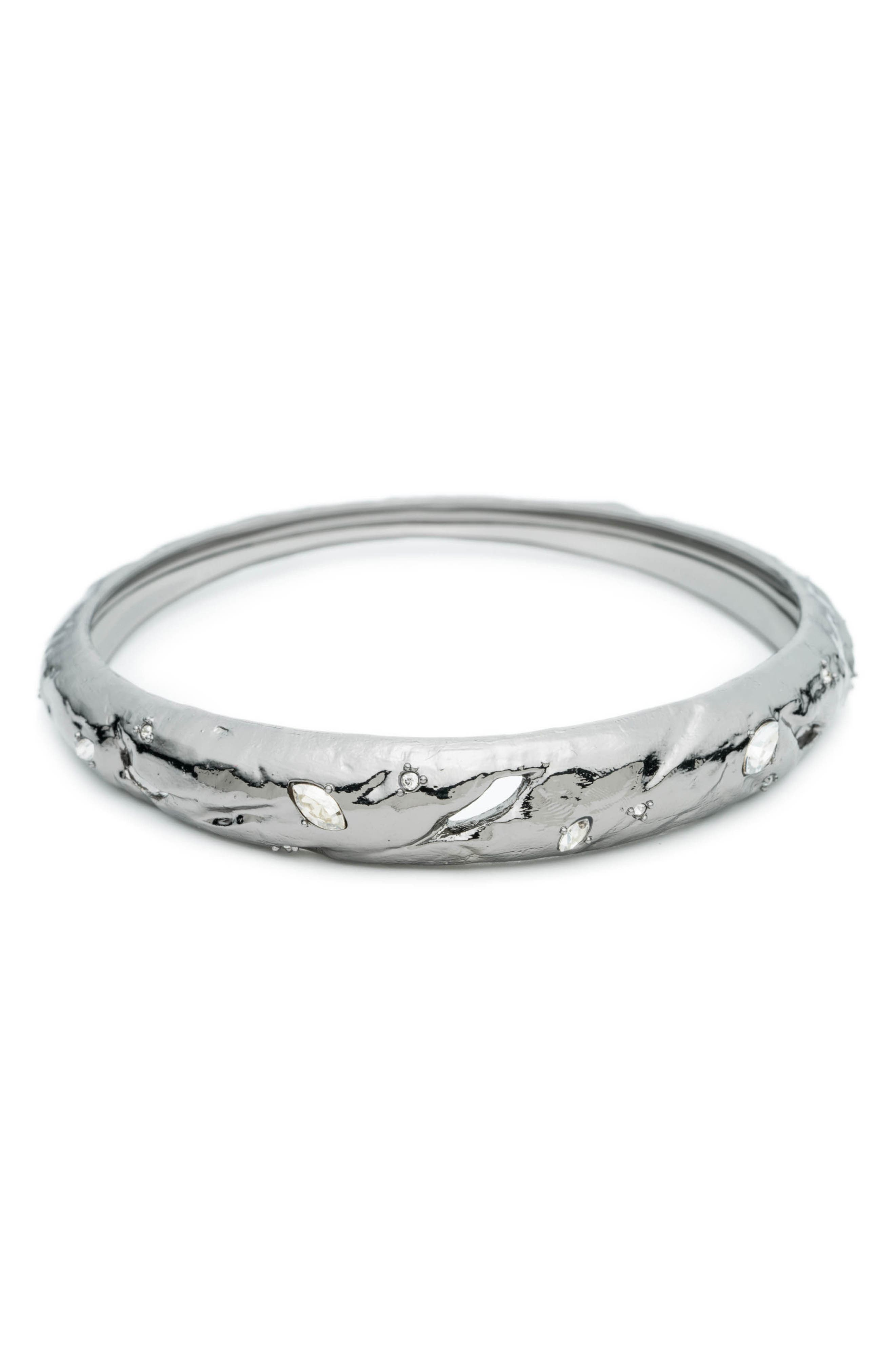 Crystal Elements Bangle,                         Main,                         color, SILVER